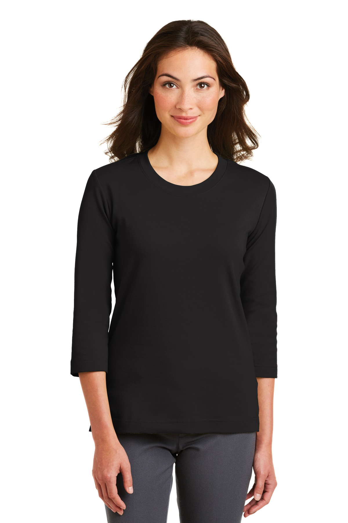 Port Authority ® Ladies Modern Stretch Cotton 3/4-Sleeve ...