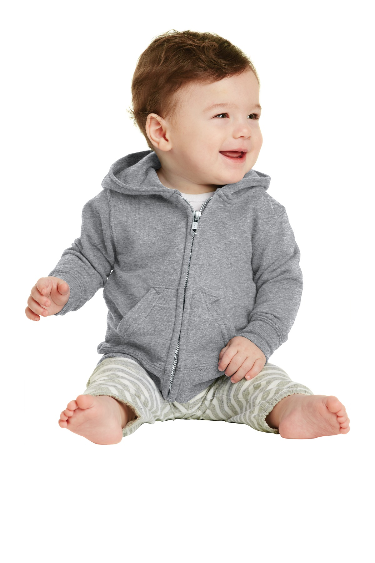 Port & Company ®  Infant Core Fleece Full-Zip Hooded Sweatshirt. CAR78IZH - Athletic Heather