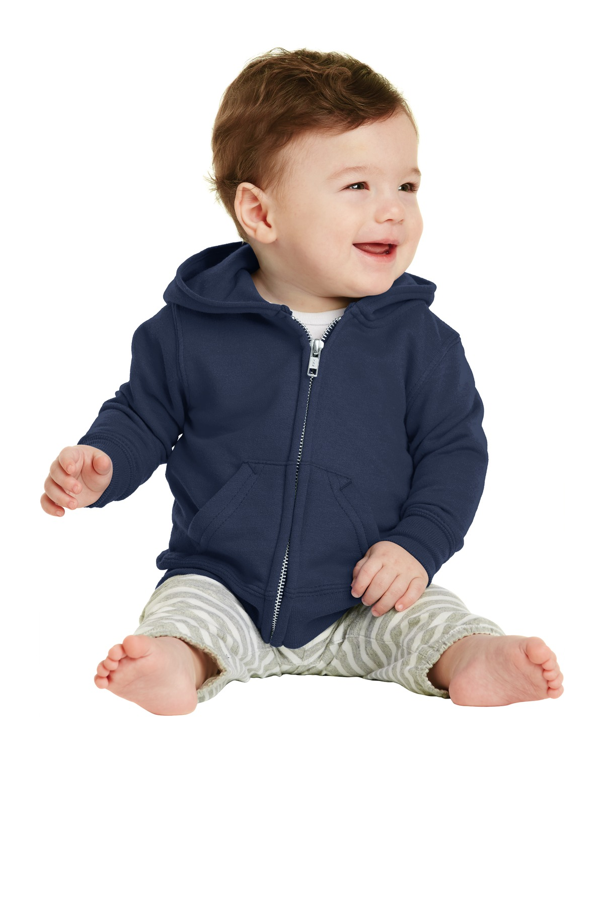 Port & Company ®  Infant Core Fleece Full-Zip Hooded Sweatshirt. CAR78IZH - Navy
