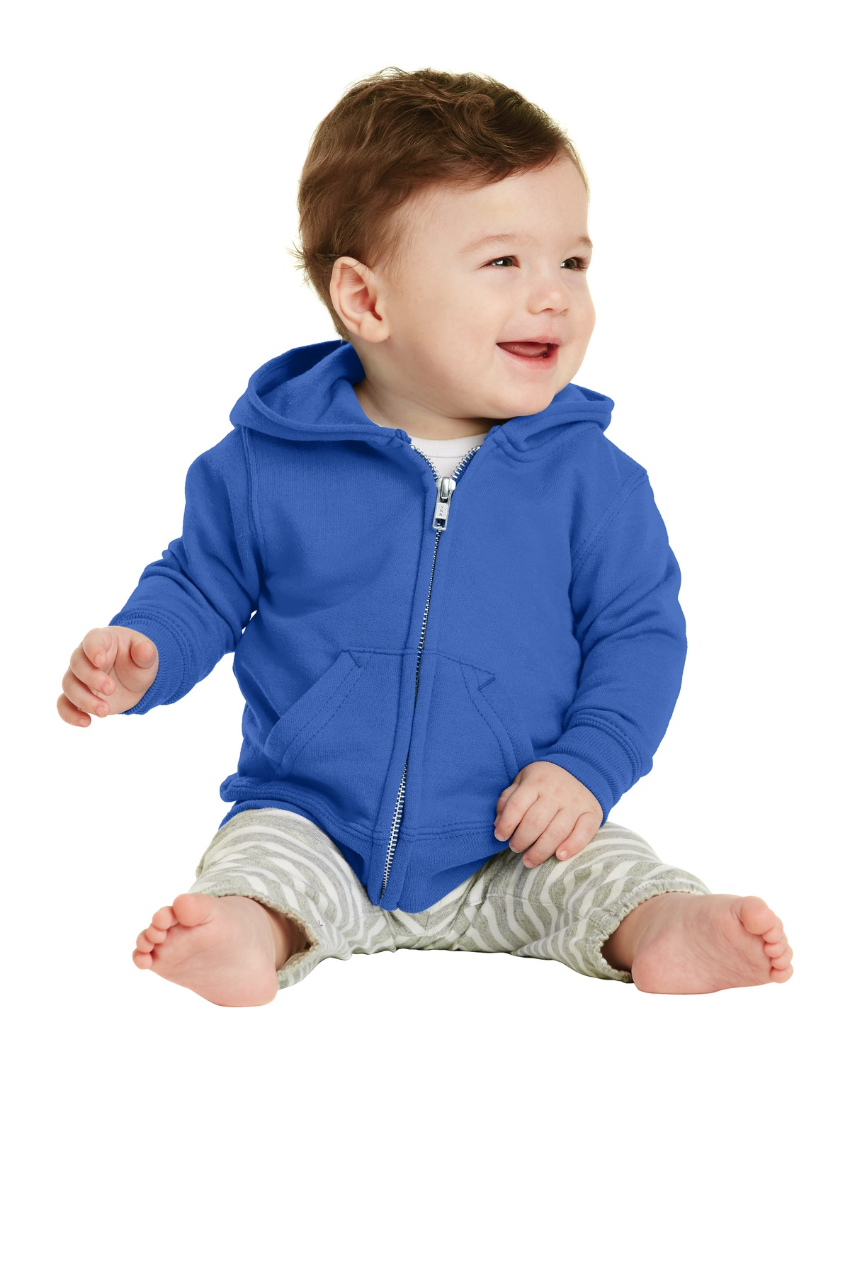 Port & Company ®  Infant Core Fleece Full-Zip Hooded Sweatshirt. CAR78IZH - Royal