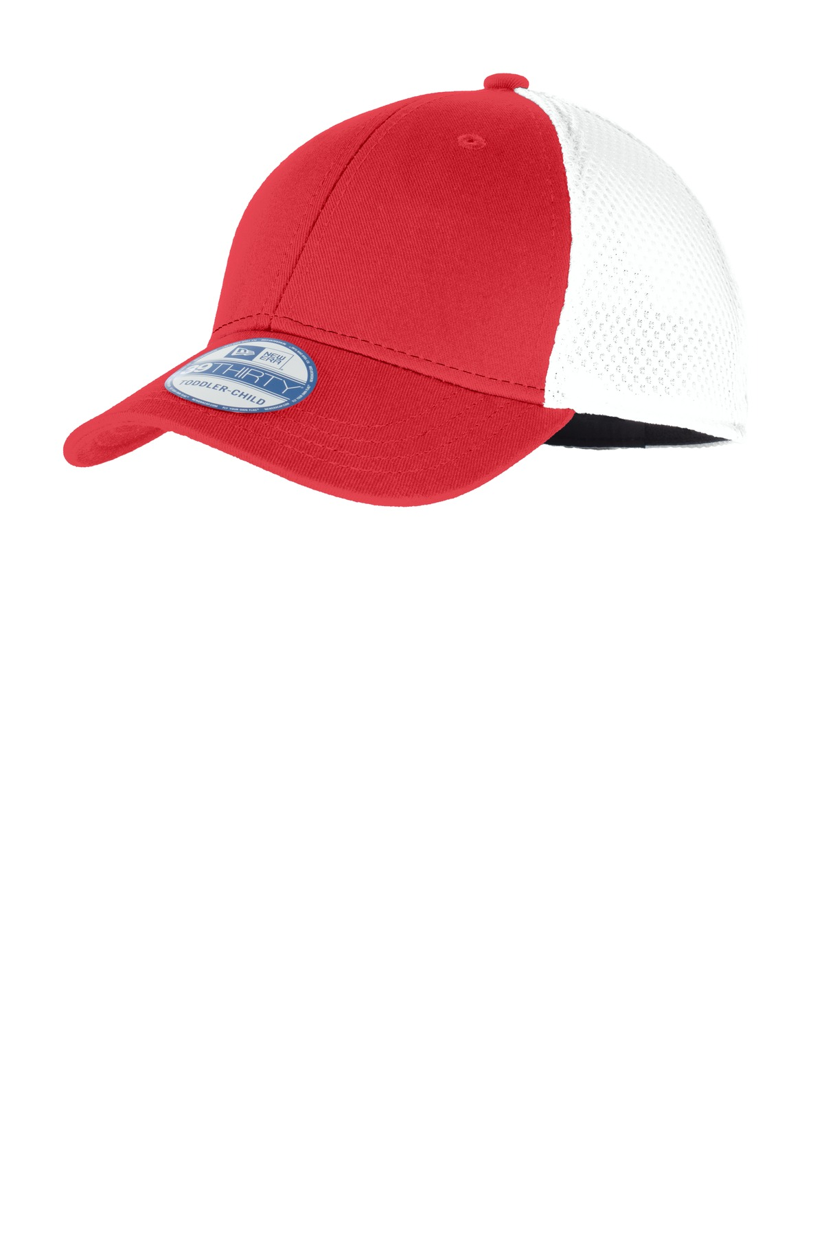 New Era ®  Youth Stretch Mesh Cap. NE302 - Scarlet Red/White