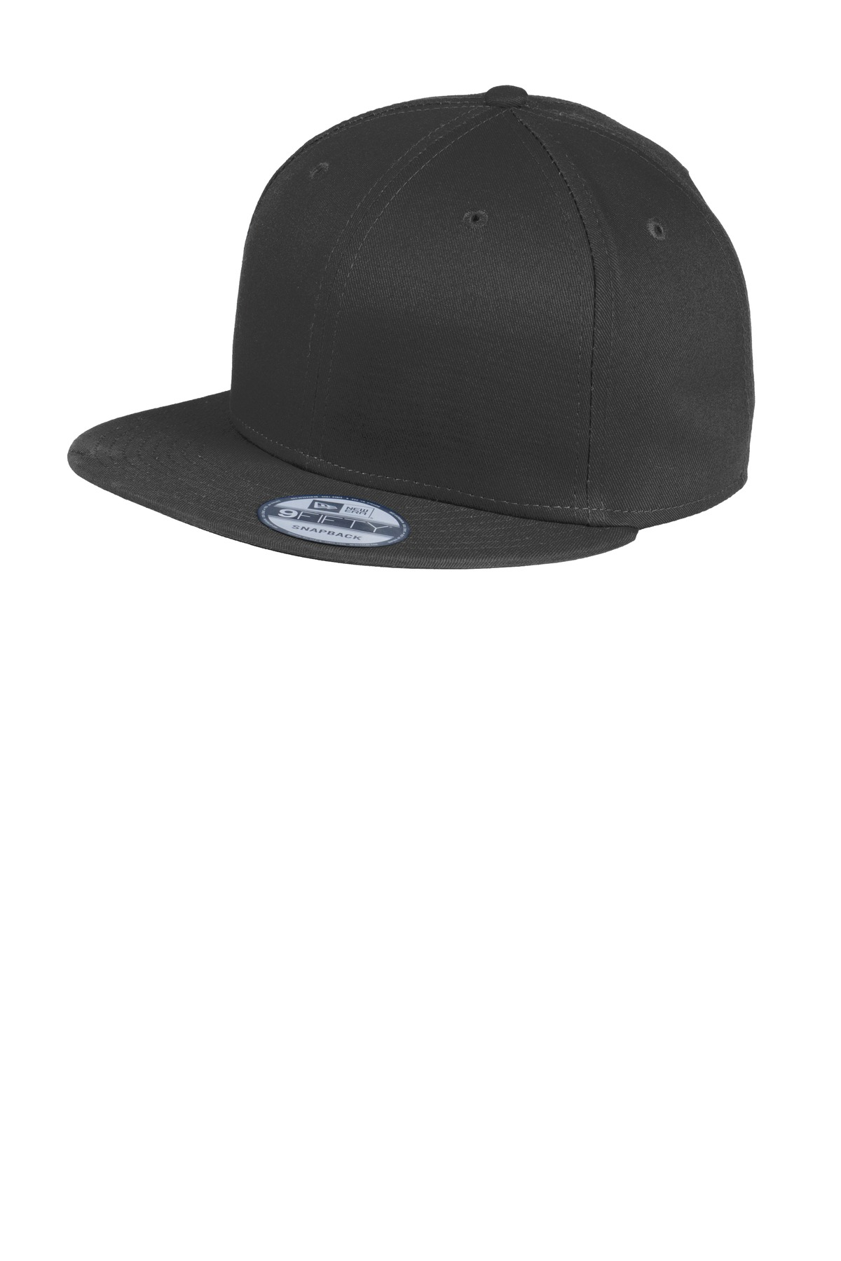 New Era ®  - Flat Bill Snapback Cap. NE400 - Black