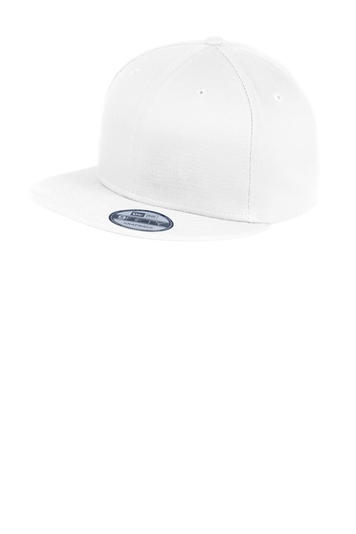 New Era ®  - Flat Bill Snapback Cap. NE400 - White