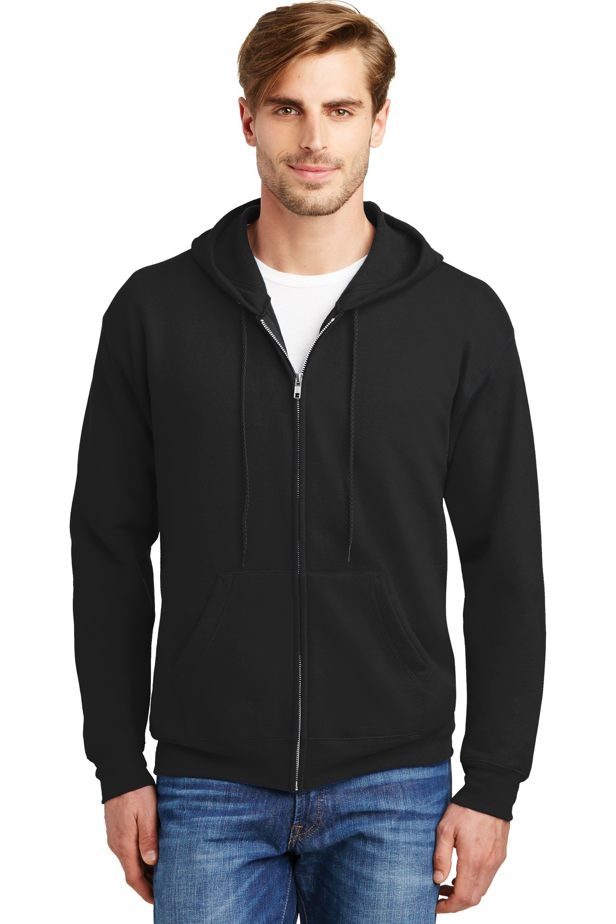 Hanes ®  - EcoSmart ®  Full-Zip Hooded Sweatshirt. P180 - Black