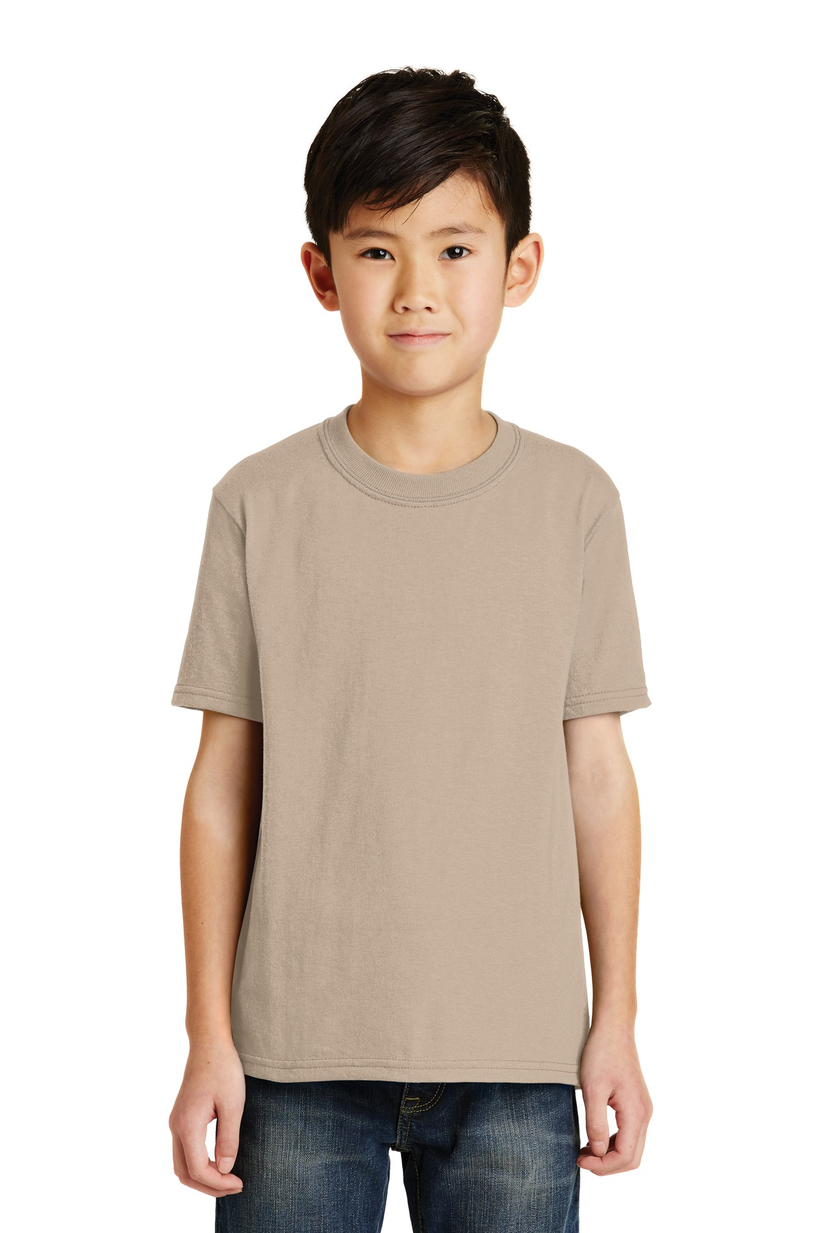 Port & Company ®  - Youth Core Blend Tee.  PC55Y - Desert Sand