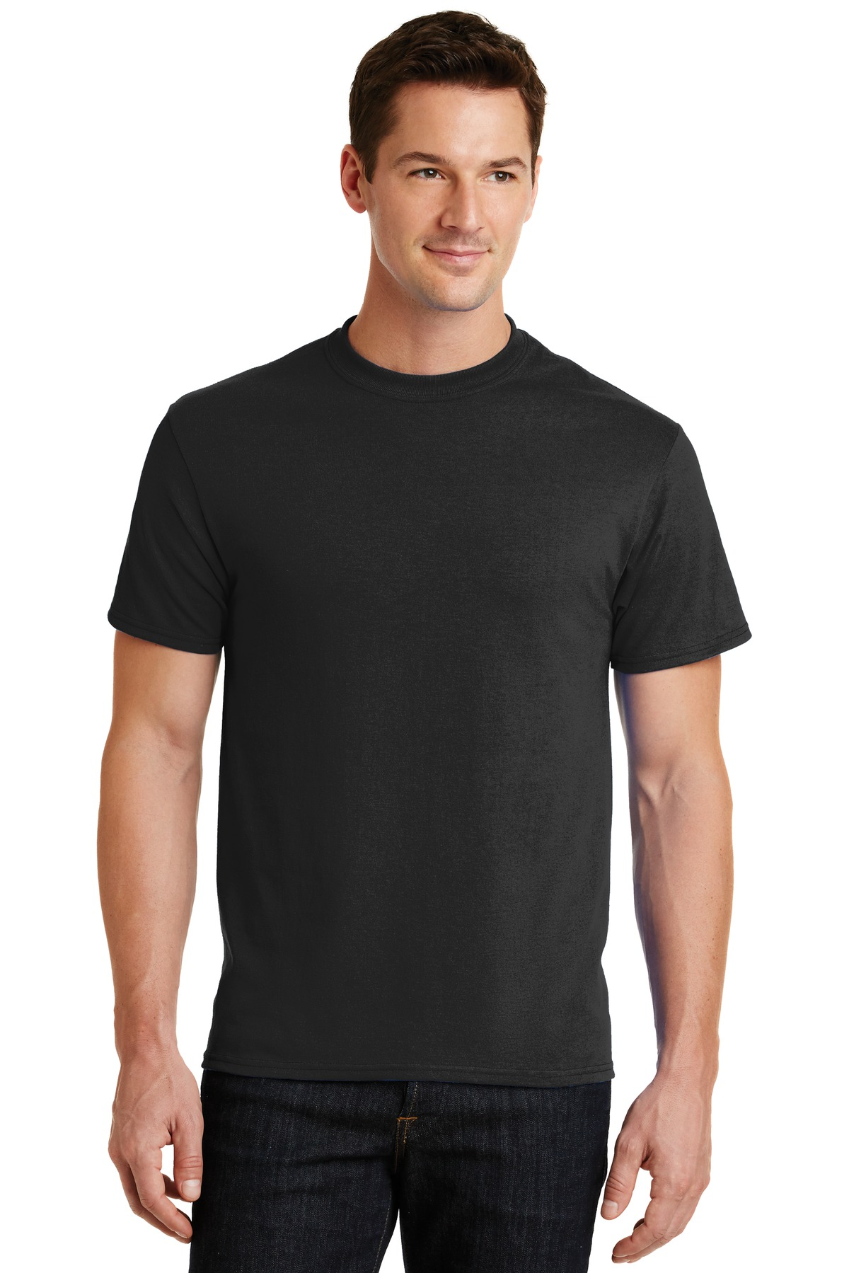FOH – Men's / Unisex Blank T-shirt: Core Blend Tee. PC55 – Black