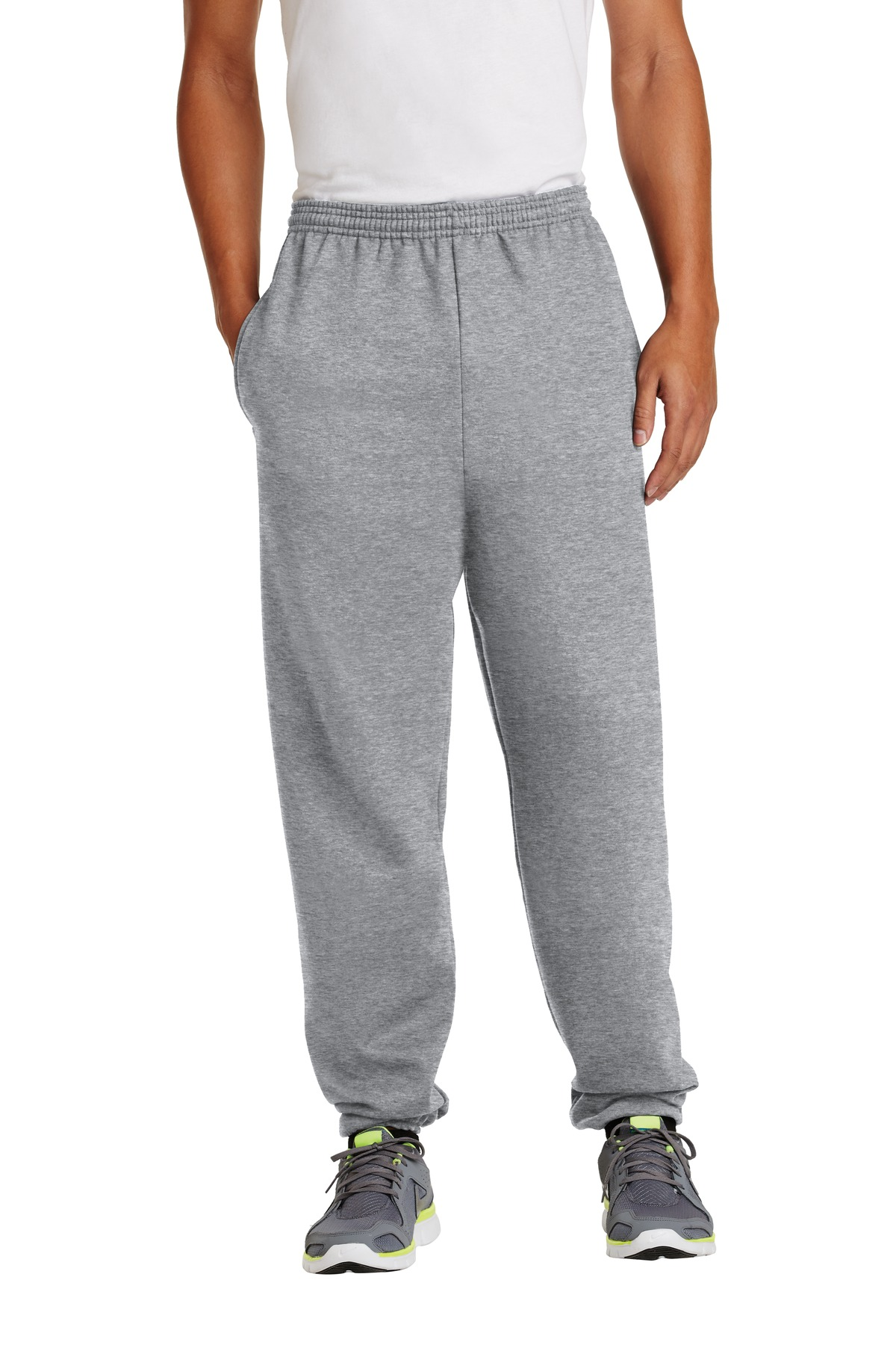 Port & Company ®  - Essential Fleece Sweatpant with Pockets.  PC90P - Athletic Heather