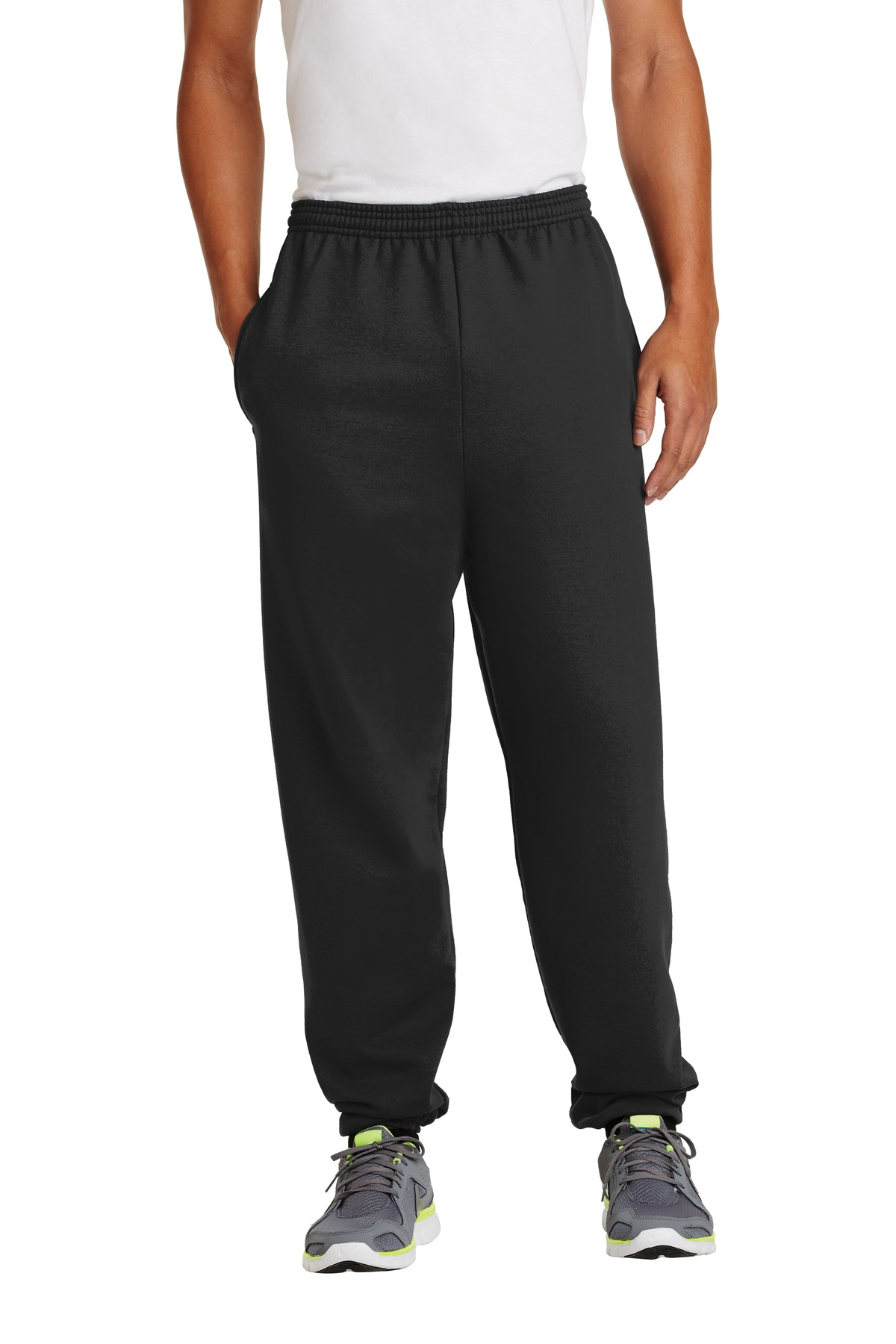 Port & Company ®  - Essential Fleece Sweatpant with Pockets.  PC90P - Jet Black