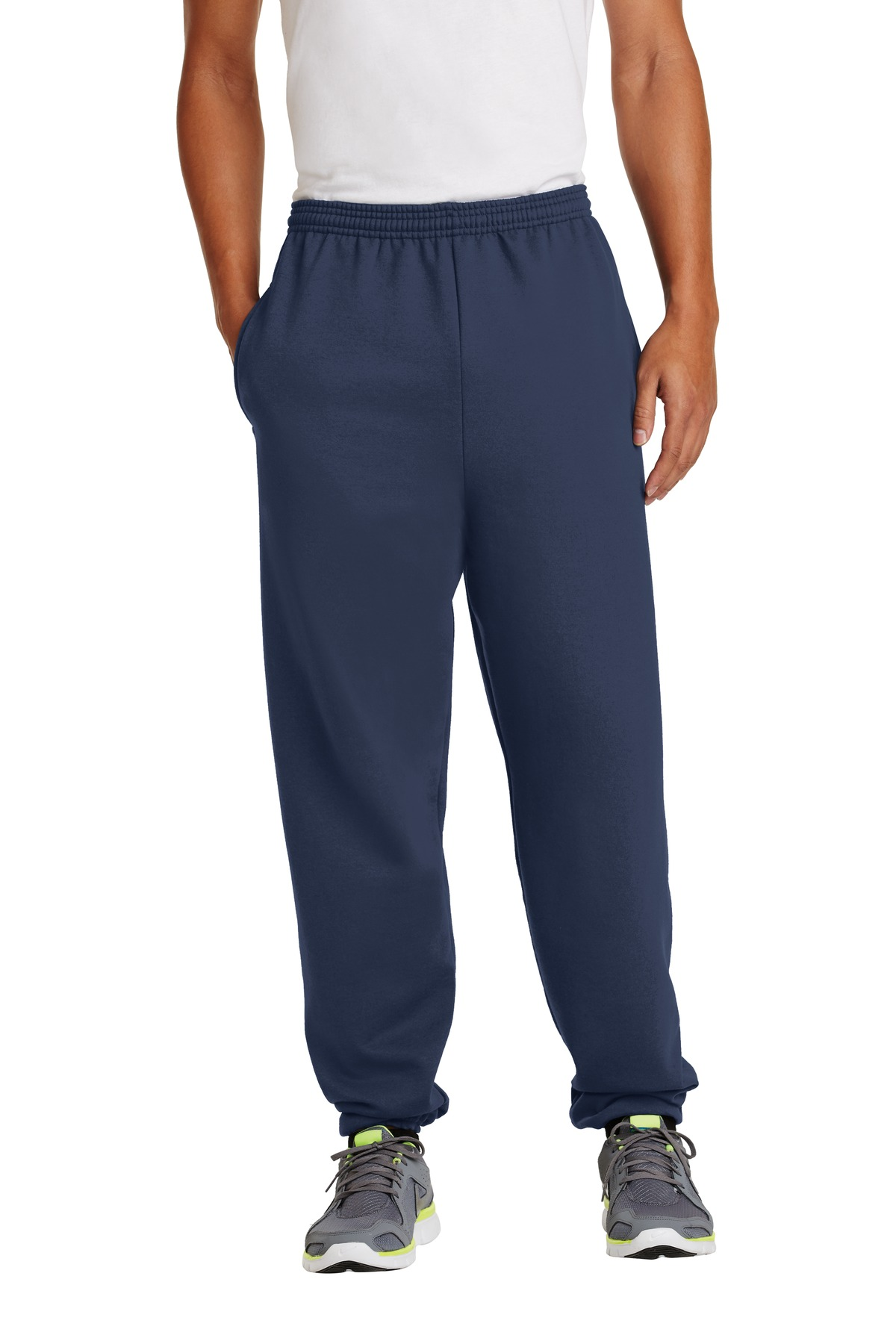 Port & Company ®  - Essential Fleece Sweatpant with Pockets.  PC90P - Navy