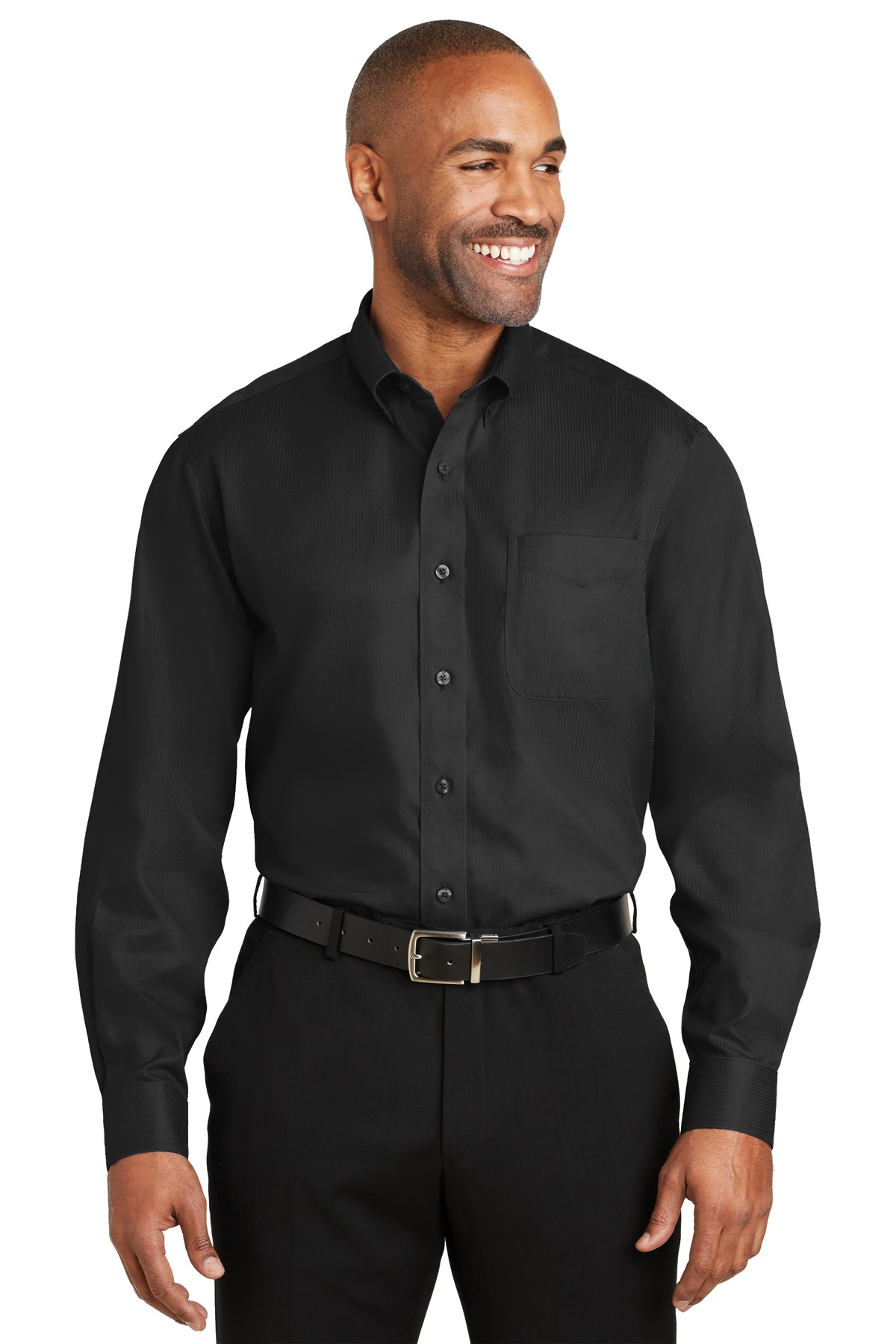 Red House ®  -  Dobby Non-Iron Button-Down Shirt. RH60 - Black