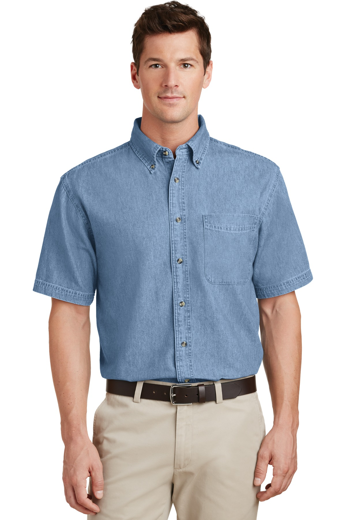 Port and Company - Short Sleeve Value Denim Shirt. SP11
