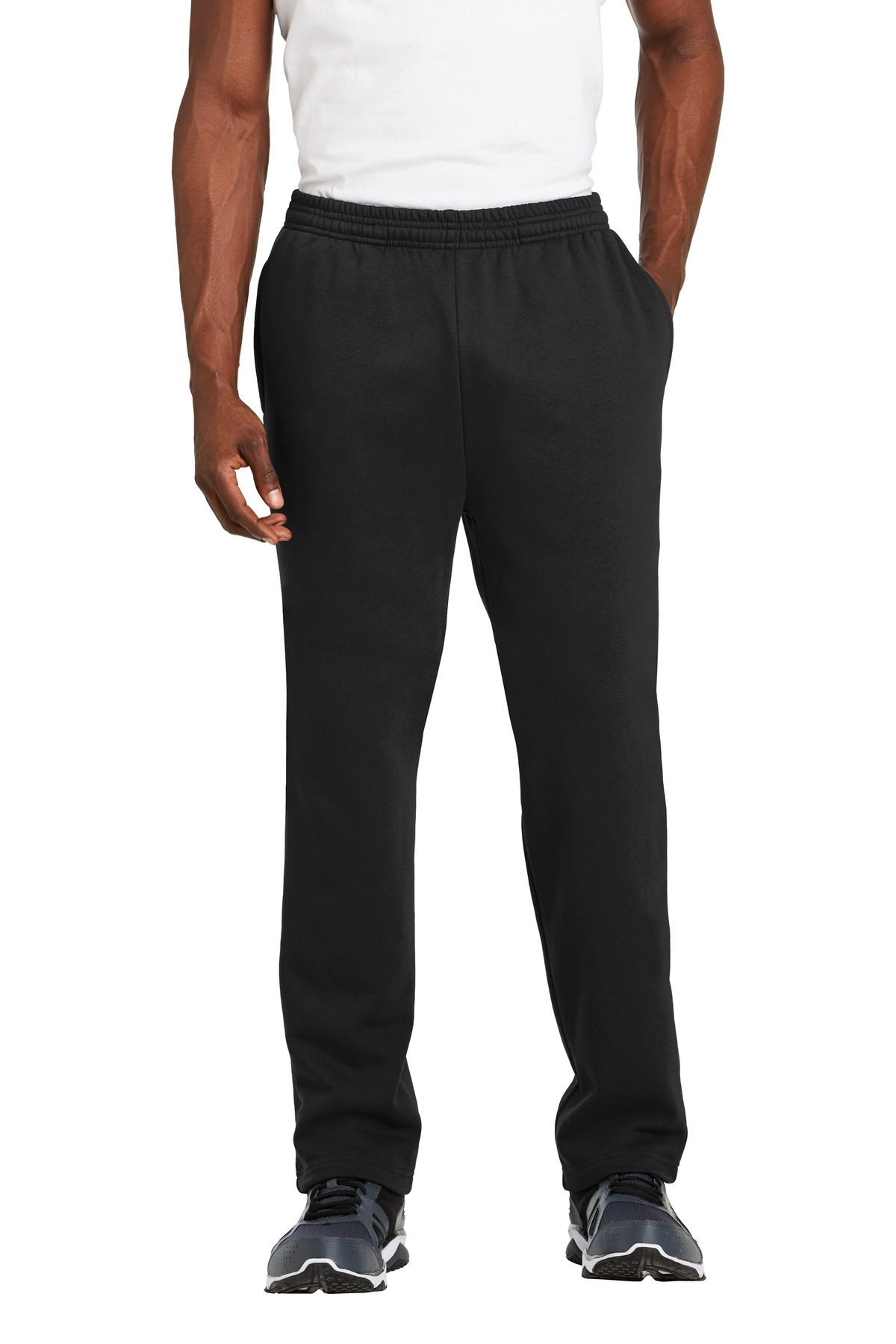 Sport-Tek ®  Open Bottom Sweatpant. ST257 - Black
