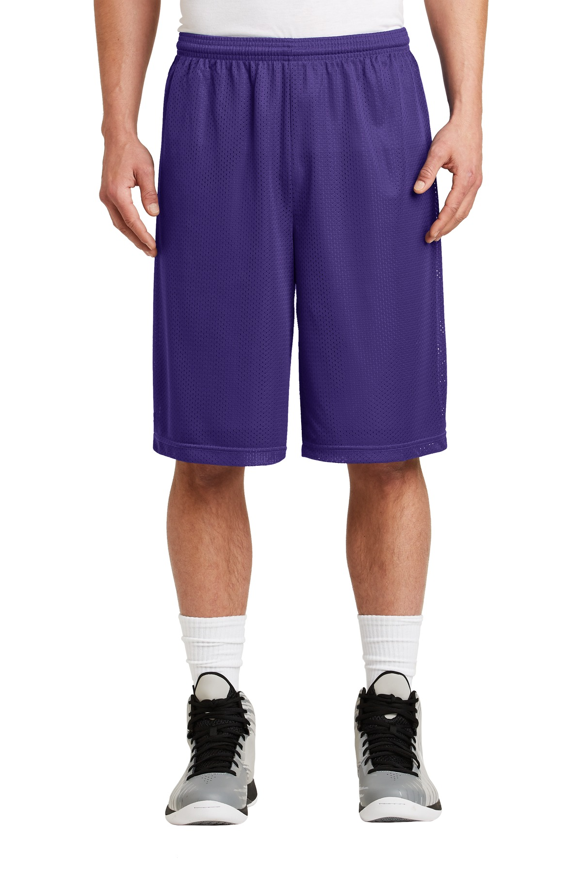 DISCONTINUED Sport-Tek Extra Long PosiCharge Classic Mesh Short. ST511