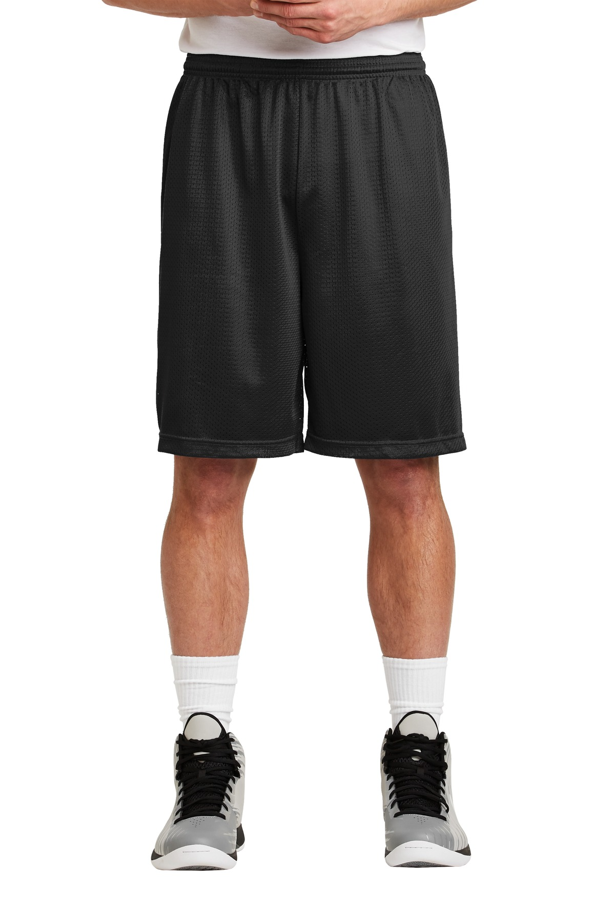 Sport-Tek ®  Long PosiCharge ®  Classic Mesh Short. ST515 - Black
