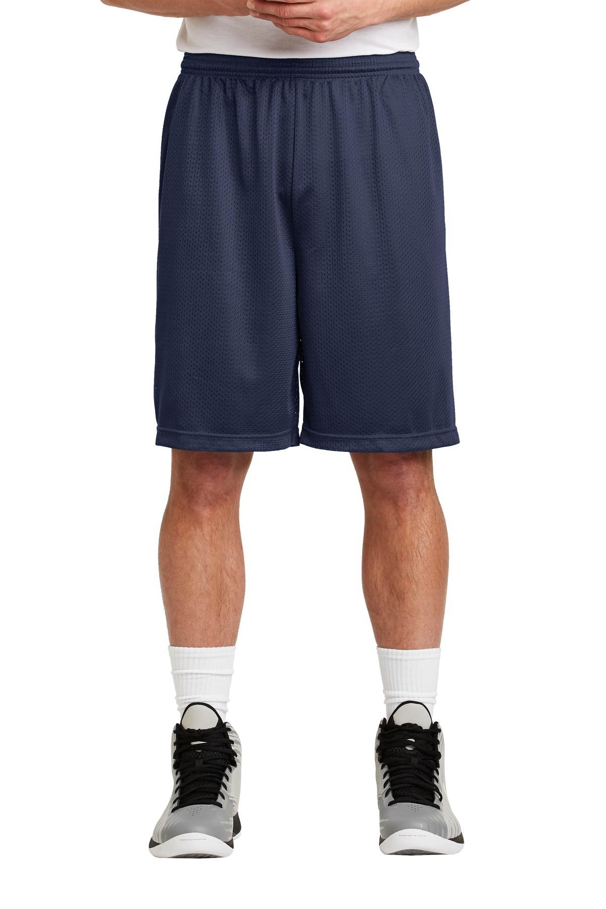 Sport-Tek ®  Long PosiCharge ®  Classic Mesh Short. ST515 - True Navy