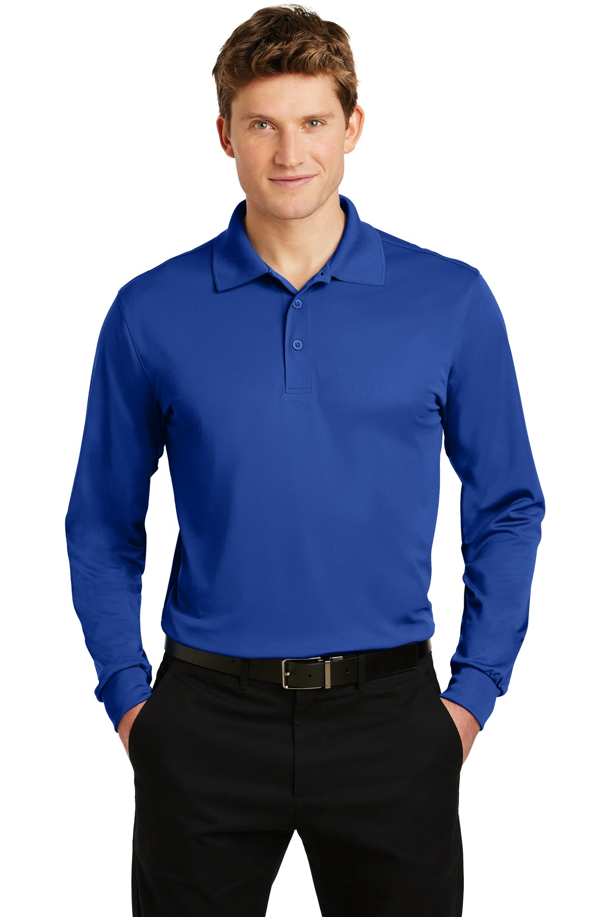 Sport-Tek ®  Long Sleeve Micropique Sport-Wick ®  Polo. ST657 - True Royal