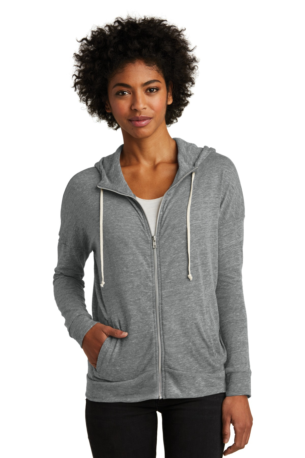Alternative Women''s Eco-Jersey Cool-Down Zip Hoodie. AA2896