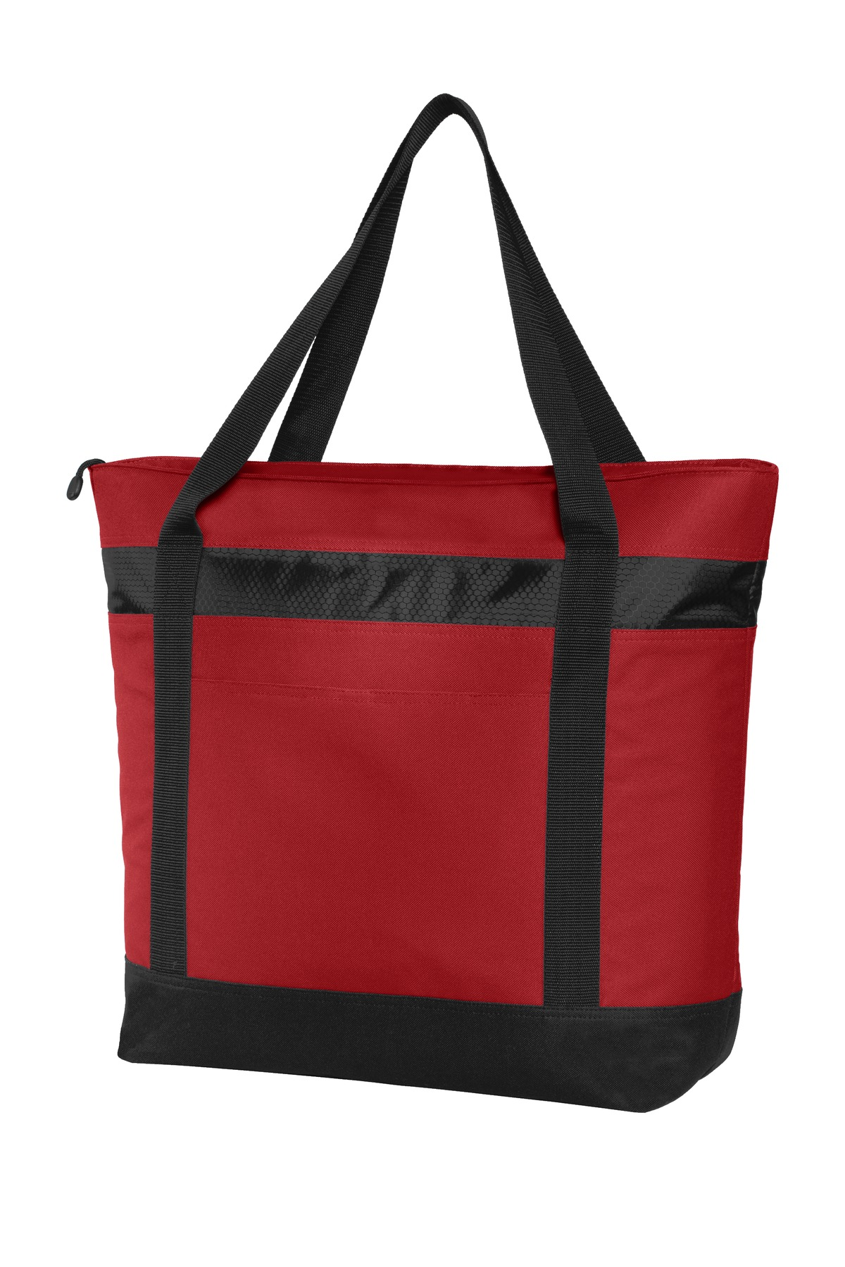 Port Authority ®  Large Tote Cooler. BG527 - Chili Red/ Black
