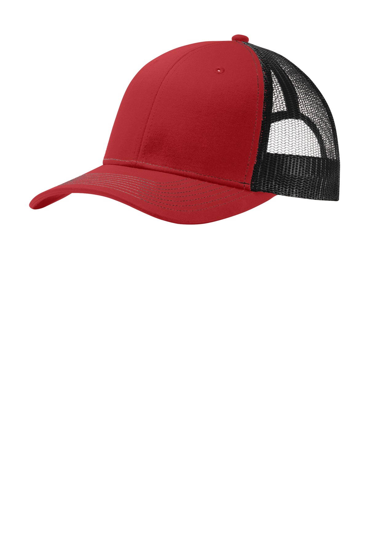 Port Authority ®  Snapback Trucker Cap. C112 - Flame Red/ Black