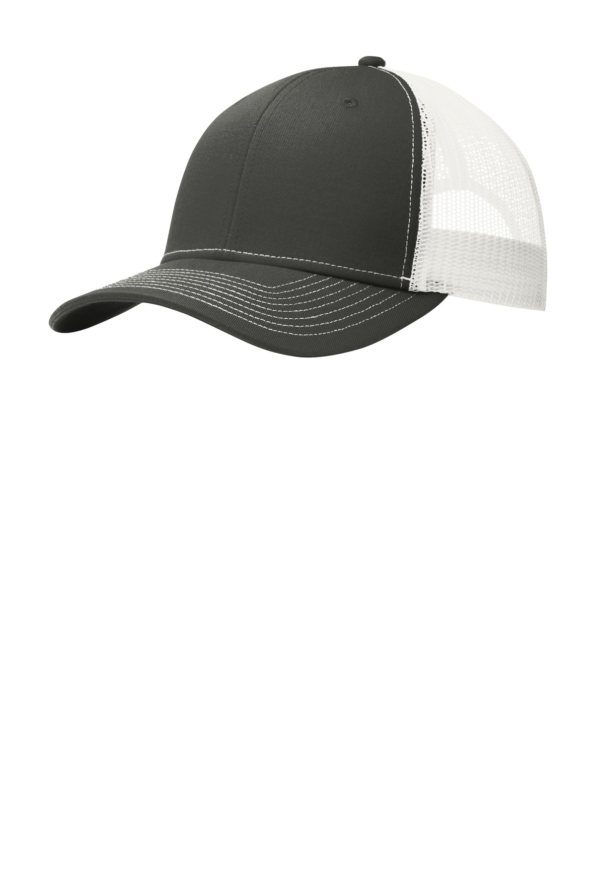 Port Authority ®  Snapback Trucker Cap. C112 - Grey Steel/ White