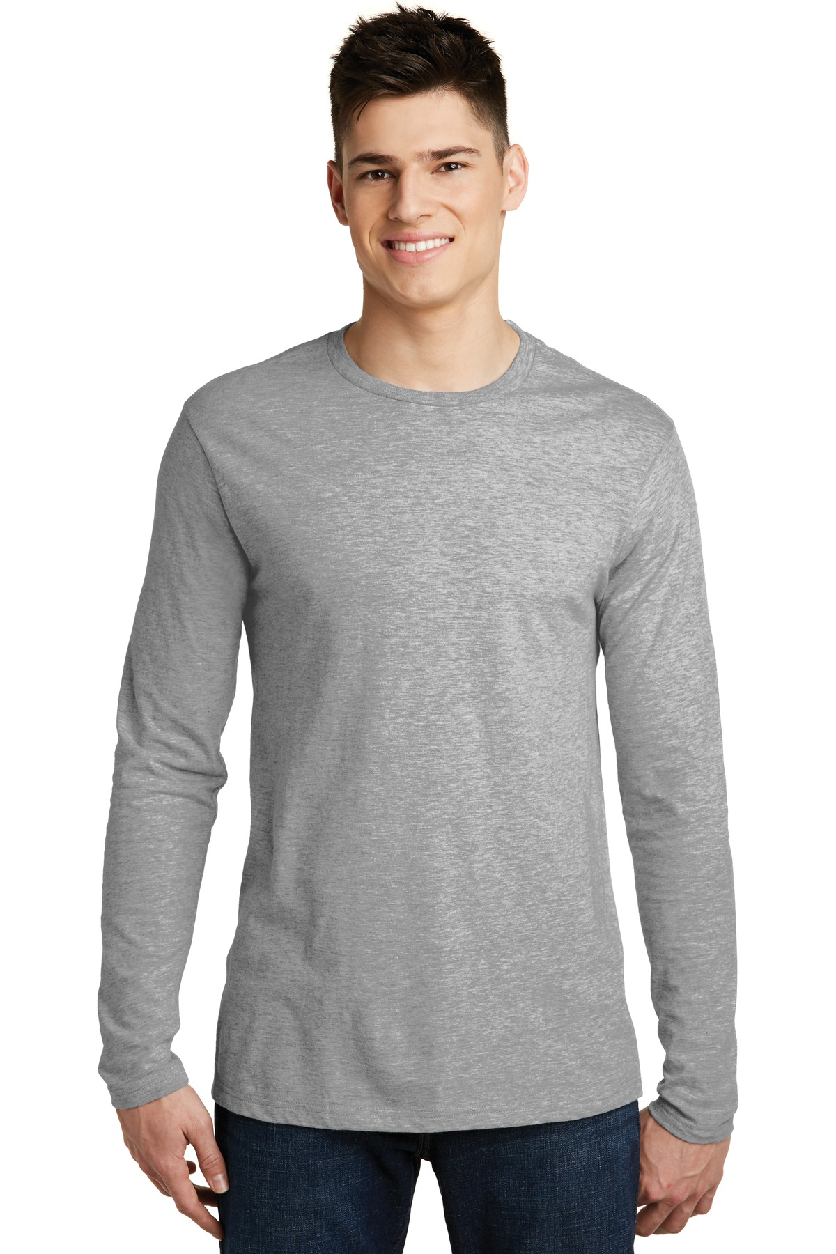 District ®  Very Important Tee ®  Long Sleeve. DT6200 - Light Heathered Grey