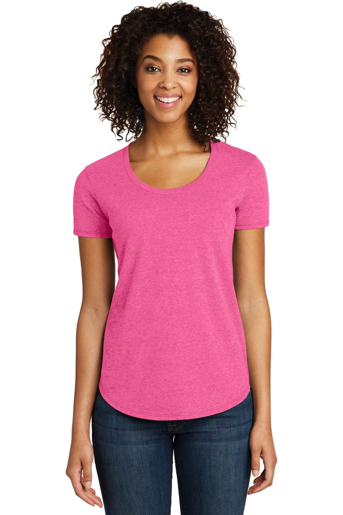 District Women''s Fitted Very Important Tee Scoop Neck. DT6401