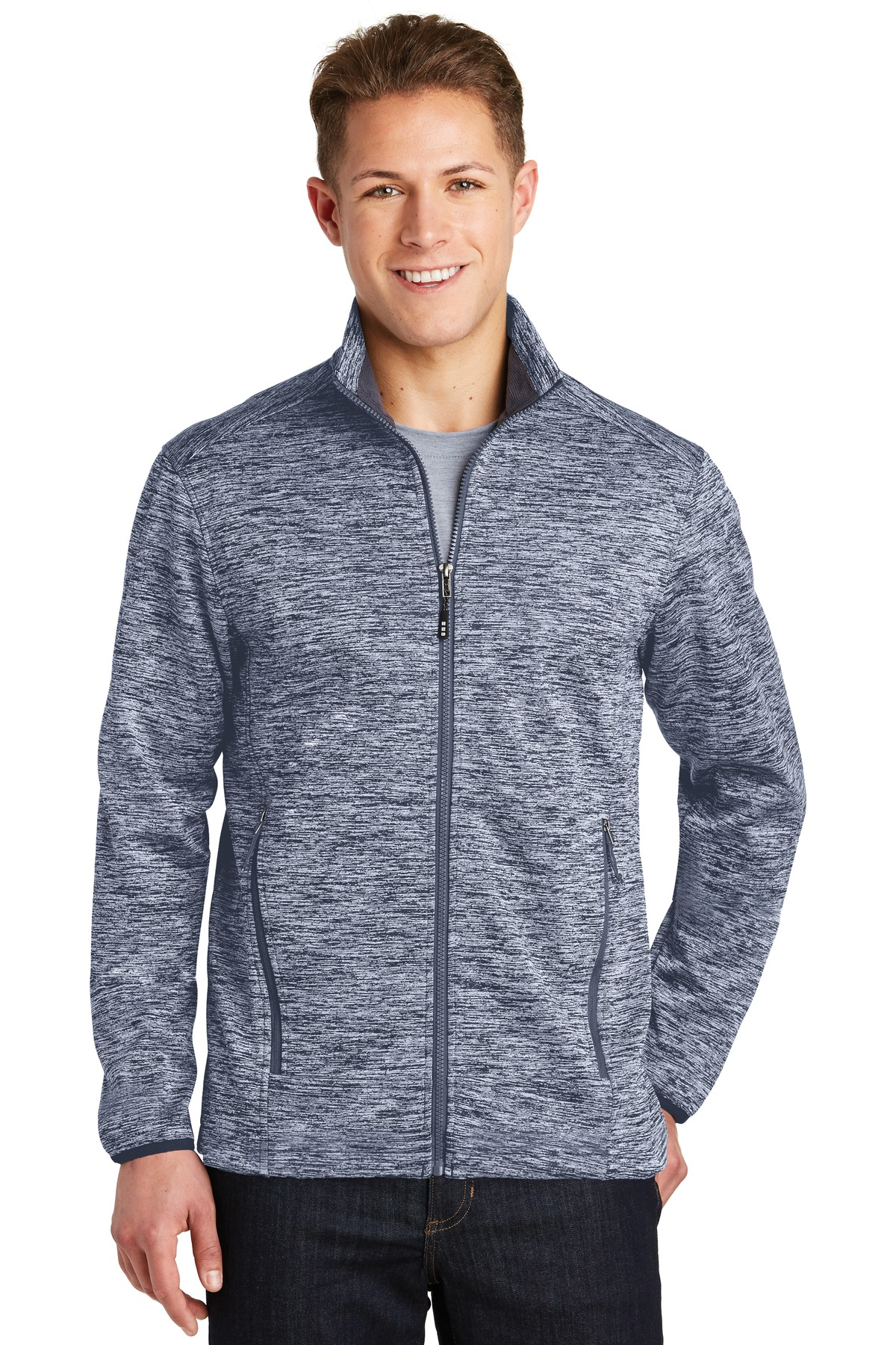 Sport-Tek PosiCharge Electric Heather Soft Shell Jacket. JST30