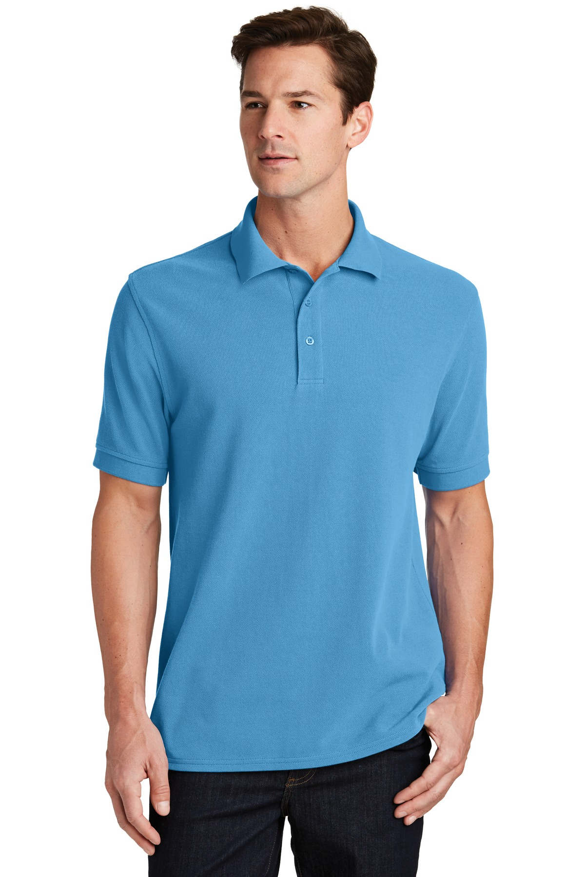 Port & Company ®  Combed Ring Spun Pique Polo. KP1500 - Aquatic Blue