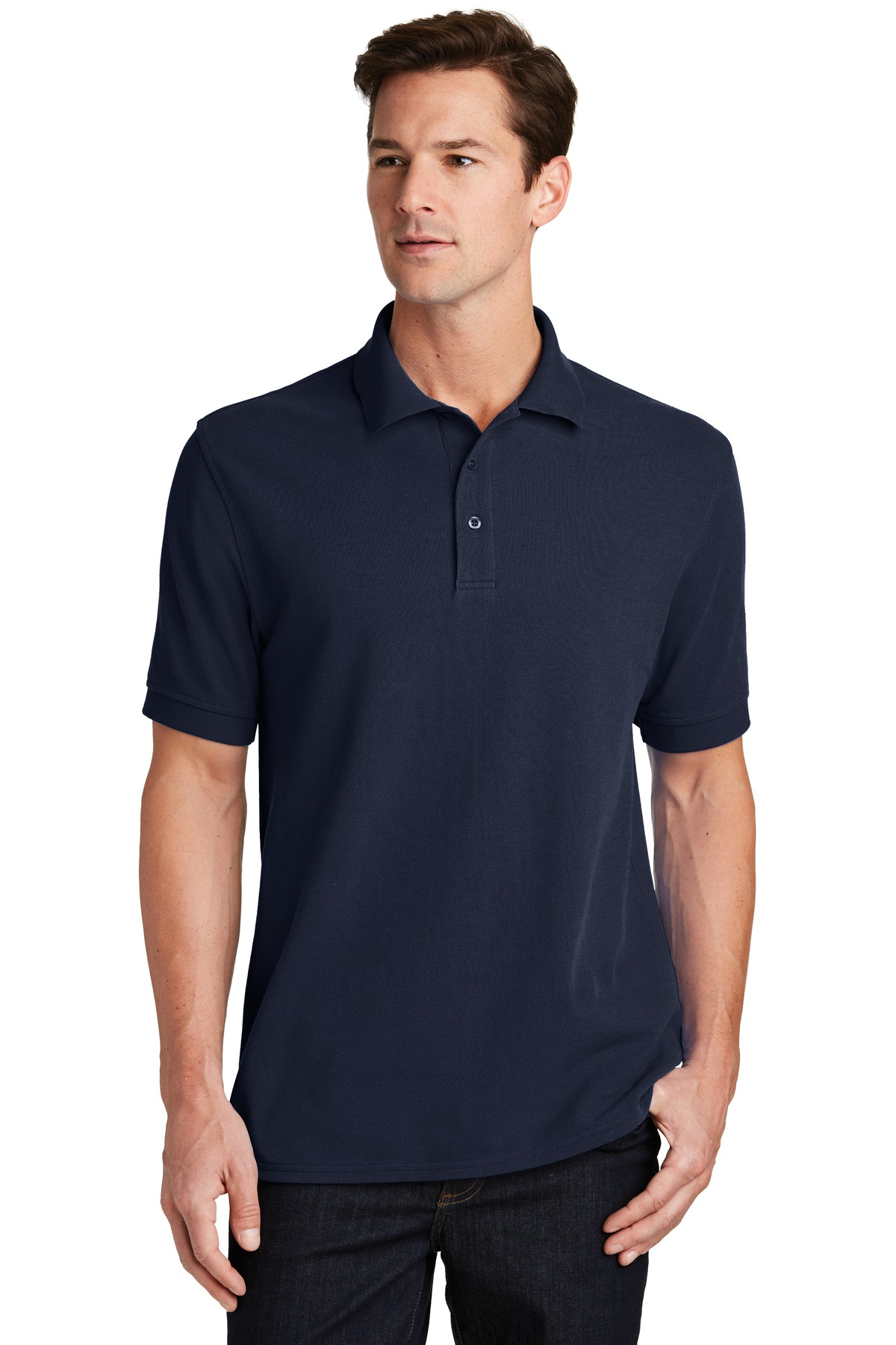 Port & Company ®  Combed Ring Spun Pique Polo. KP1500 - Deep Navy