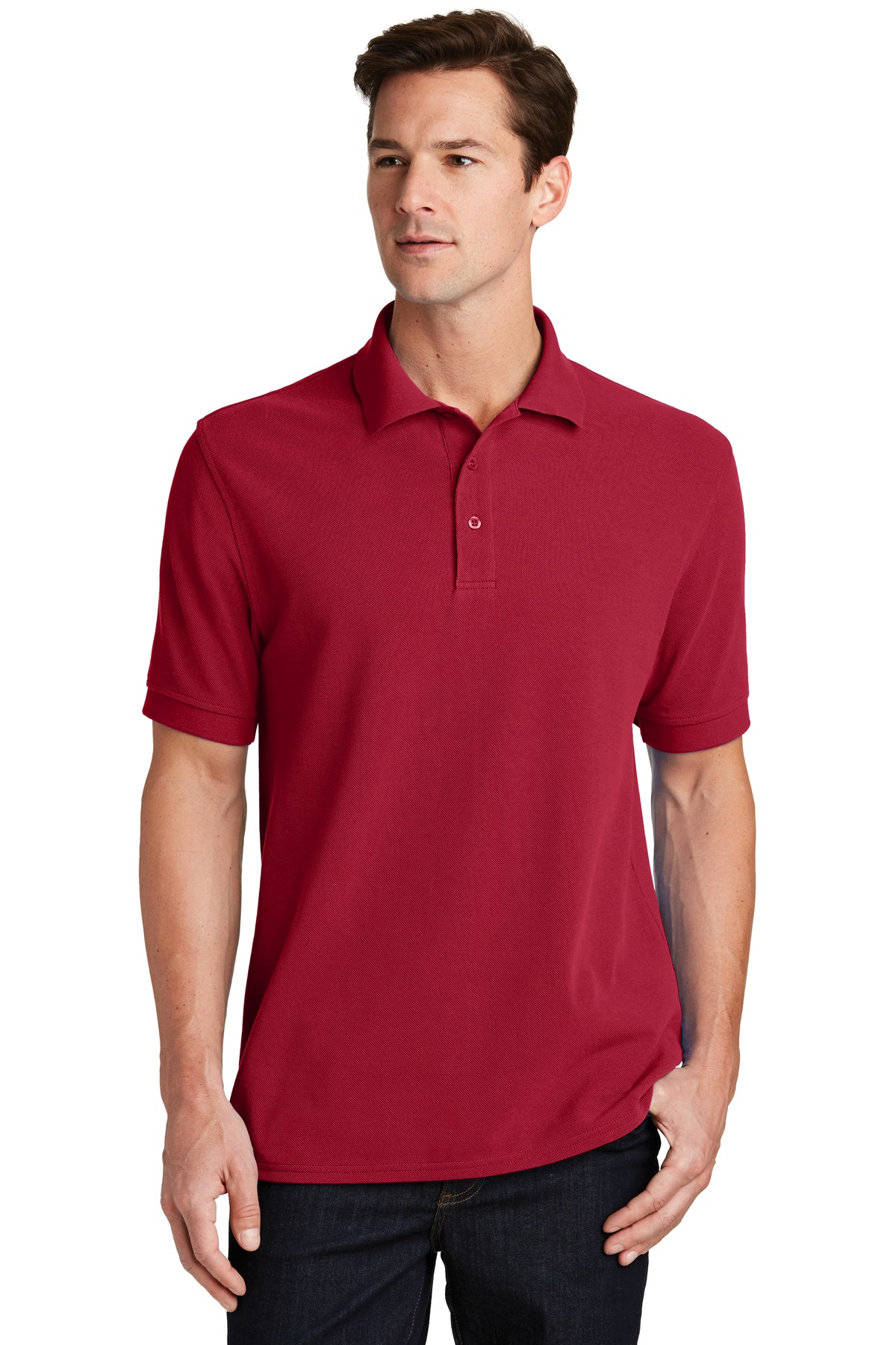 Port & Company ®  Combed Ring Spun Pique Polo. KP1500 - Red