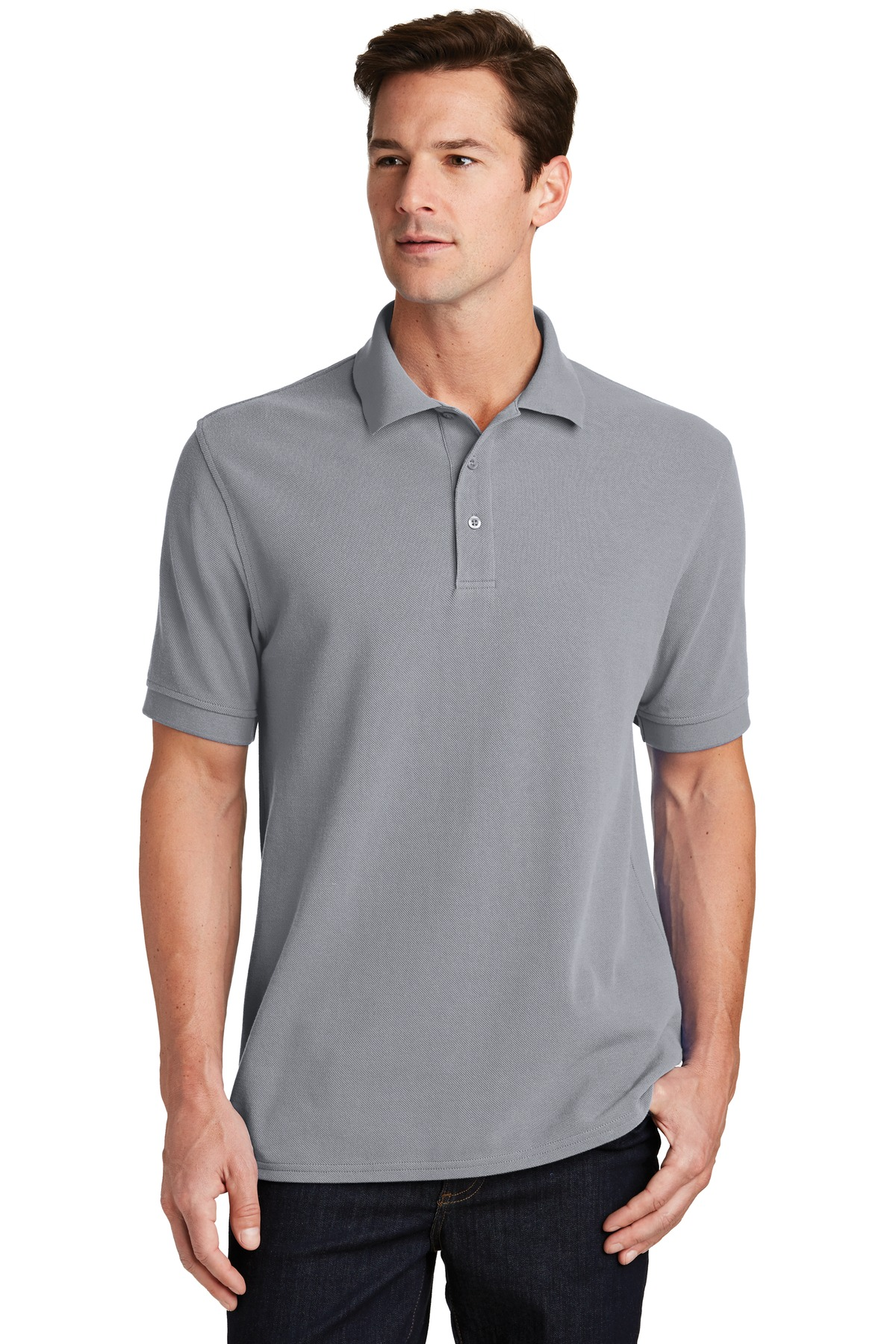 Port & Company ®  Combed Ring Spun Pique Polo. KP1500 - Silver