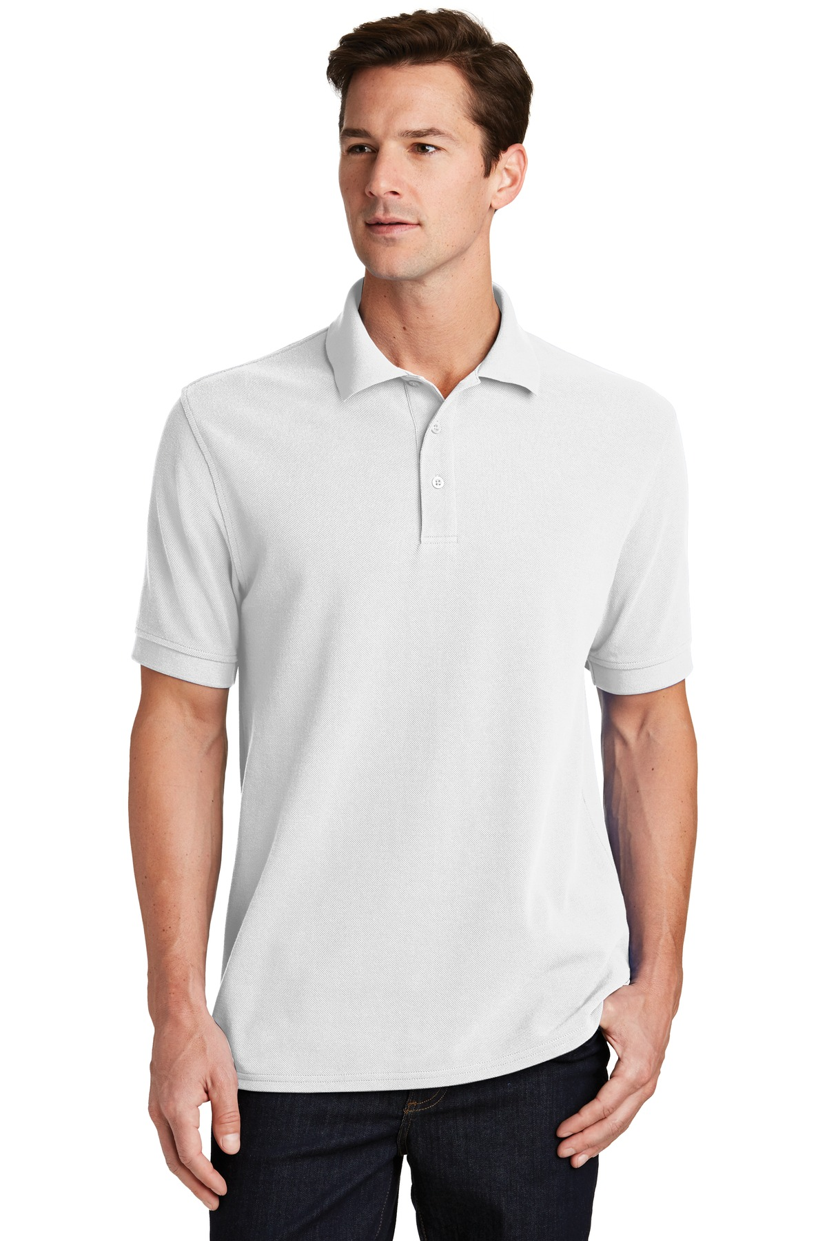 Port & Company ®  Combed Ring Spun Pique Polo. KP1500 - White