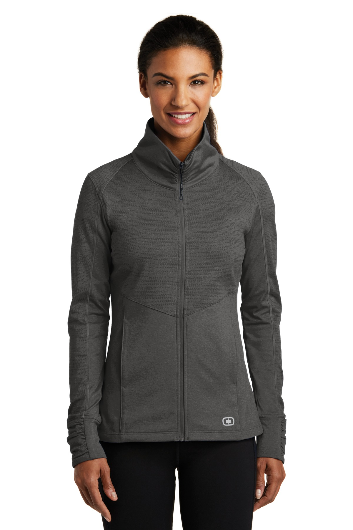 OGIO ®  ENDURANCE Ladies Sonar Full-Zip. LOE702 - Blacktop Heather