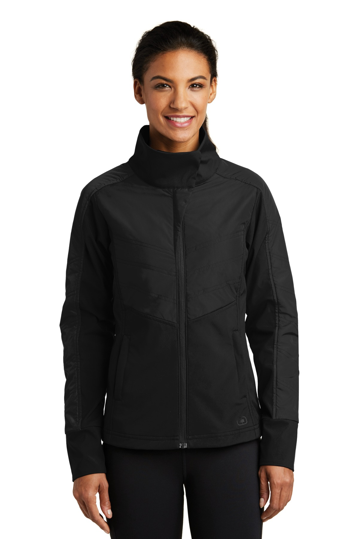 OGIO ®  ENDURANCE Ladies Brink Soft Shell. LOE722 - Blacktop