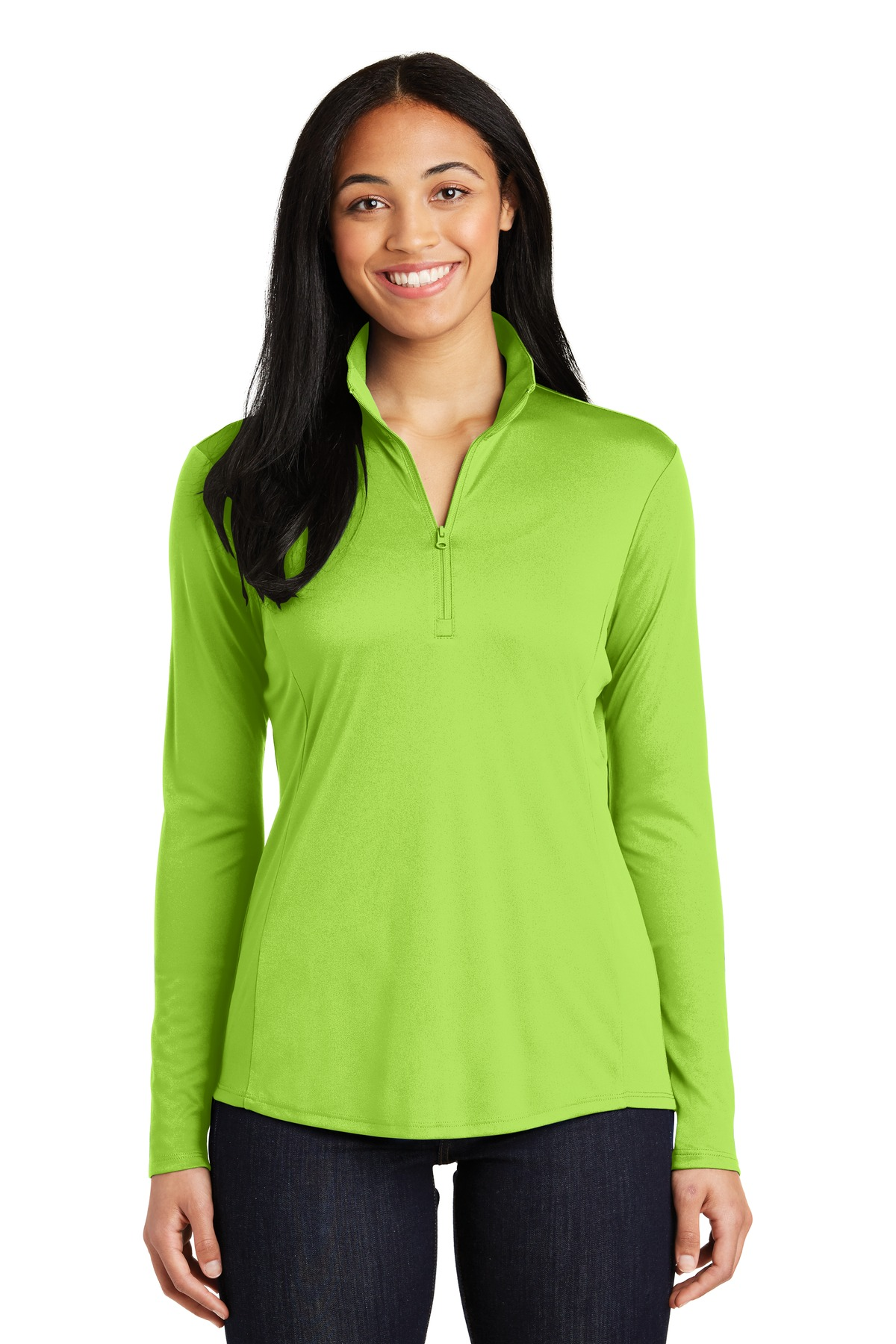 Sport-Tek ®  Ladies PosiCharge ®  Competitor ™  1/4-Zip Pullover. LST357 - Lime Shock