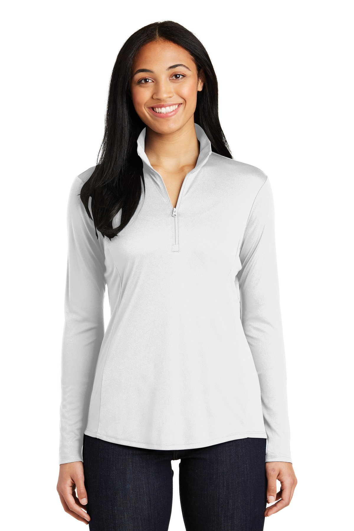 Sport-Tek ®  Ladies PosiCharge ®  Competitor ™  1/4-Zip Pullover. LST357 - White