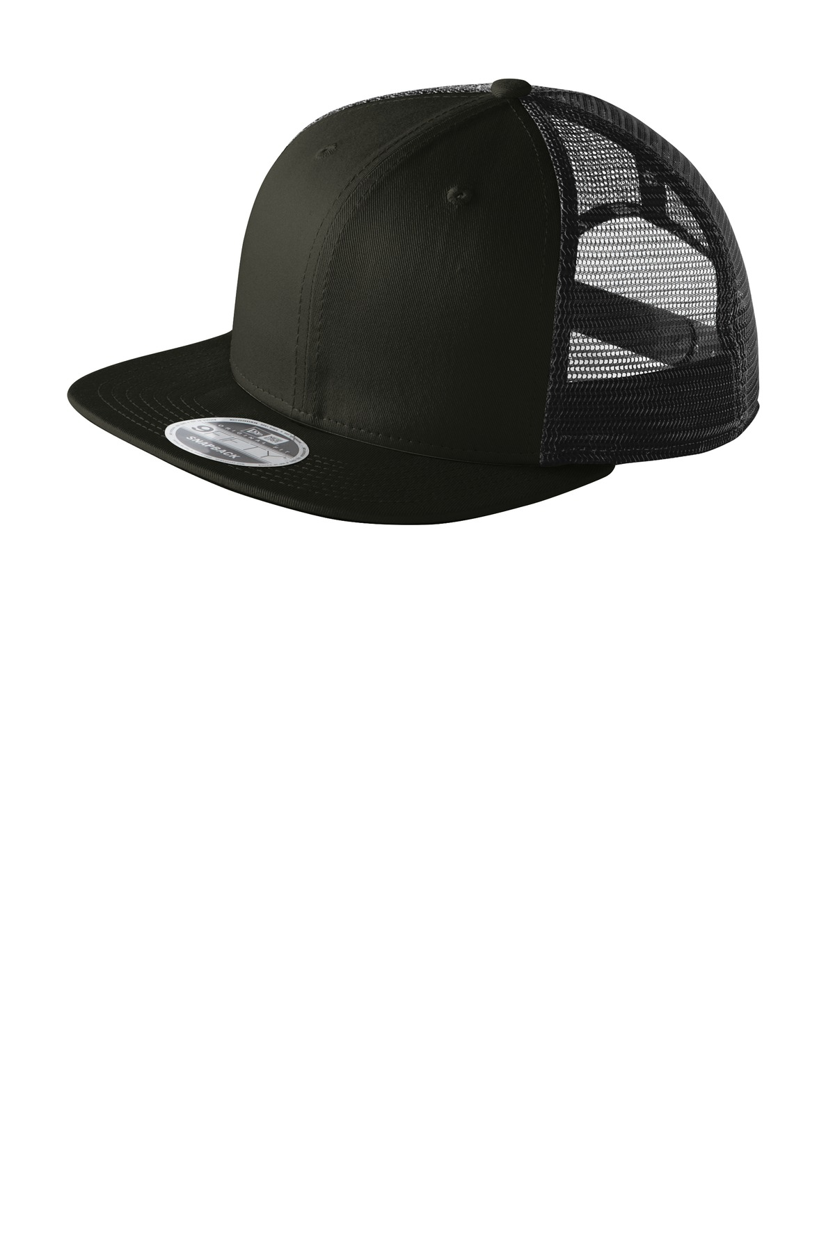 New Era ®  Original Fit Snapback Trucker Cap. NE403 - Black/ Black