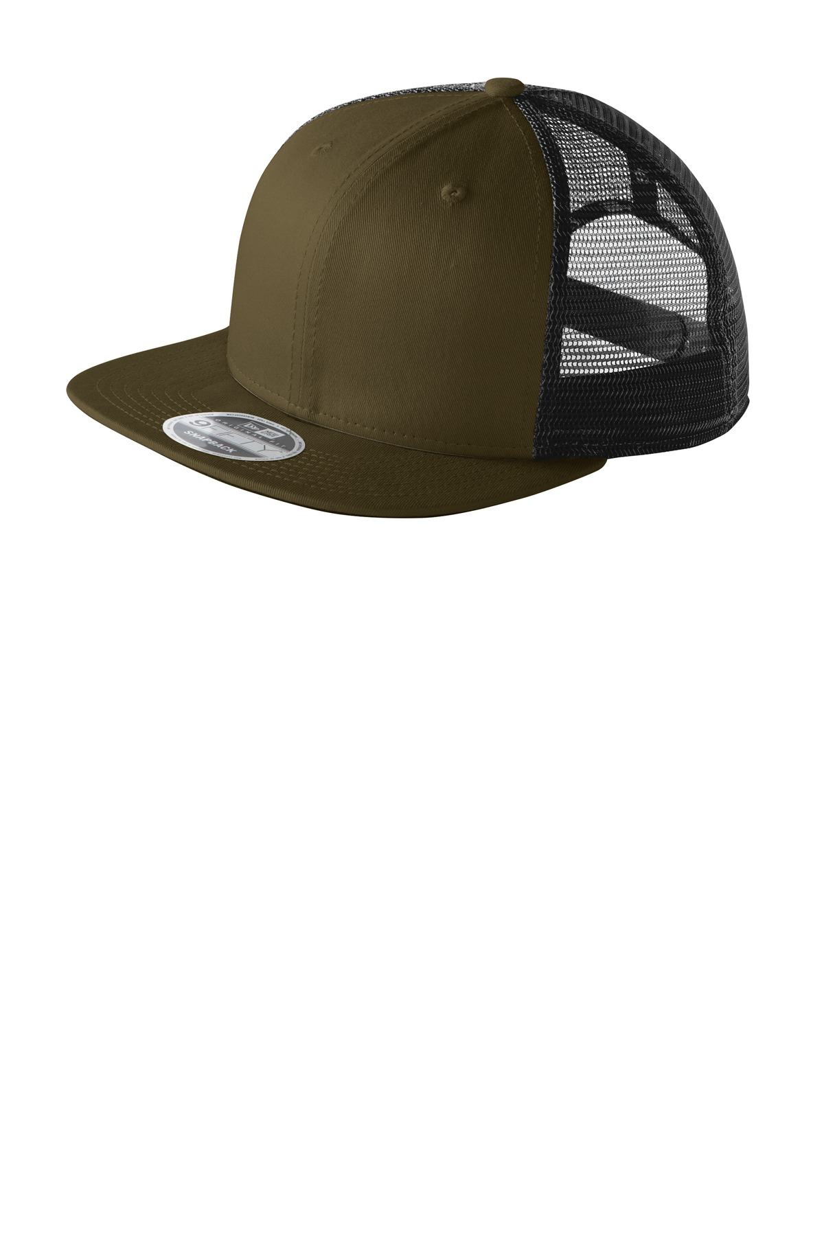 New Era ®  Original Fit Snapback Trucker Cap. NE403 - Olive/ Black