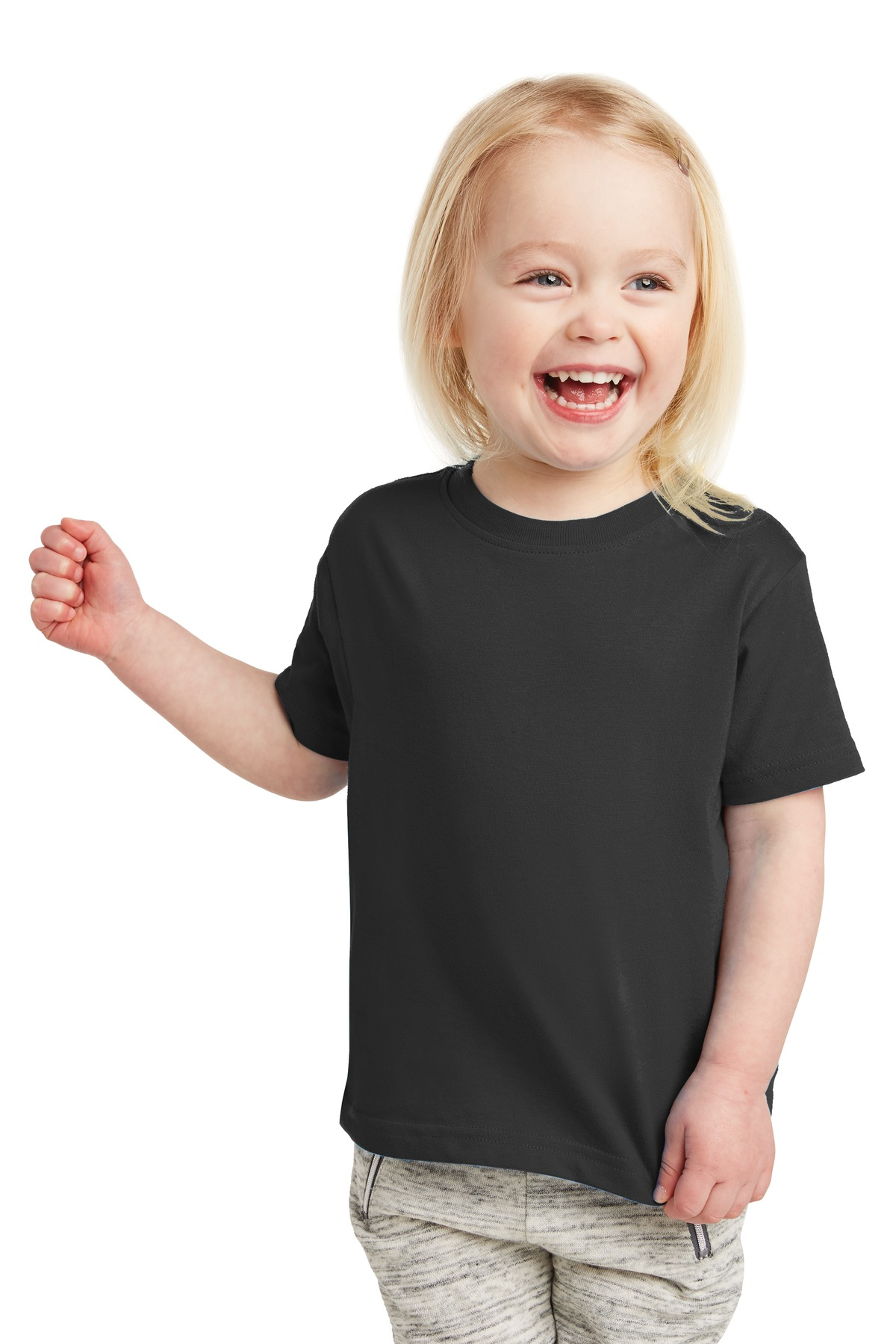Rabbit Skins ™  Toddler Fine Jersey Tee. RS3321 - Black