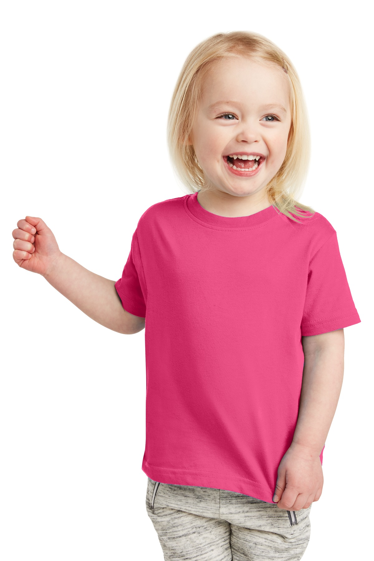 Rabbit Skins ™  Toddler Fine Jersey Tee. RS3321 - Hot Pink
