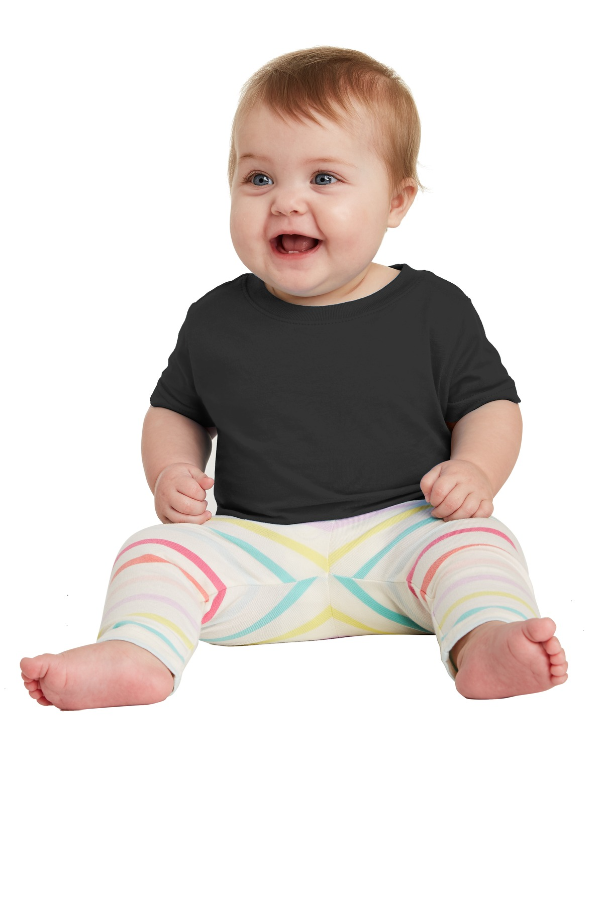 Rabbit Skins ™  Infant Fine Jersey Tee. RS3322 - Black