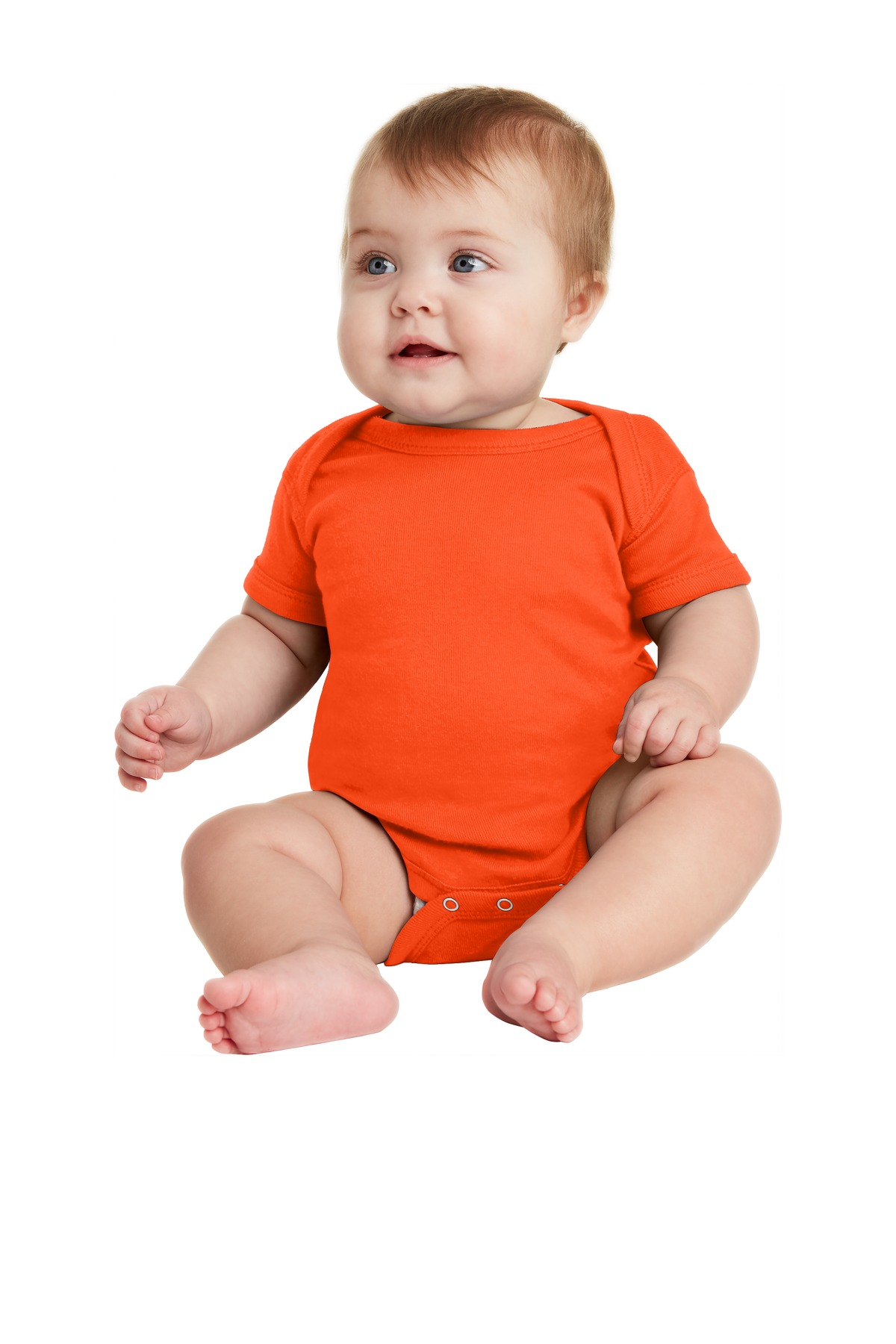 Rabbit Skins Infant Short Sleeve Baby Rib Bodysuit. RS4400