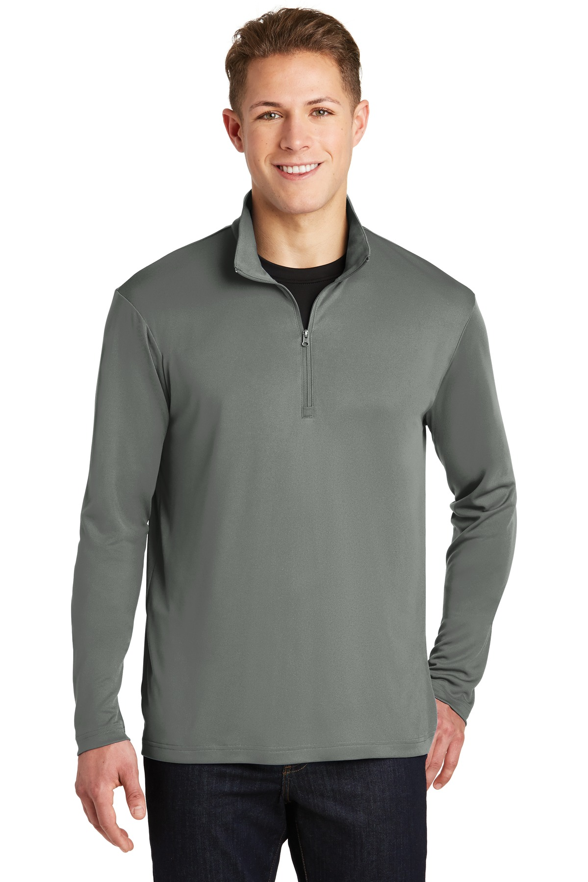 Sport-Tek ®  PosiCharge ®  Competitor ™  1/4-Zip Pullover. ST357 - Grey Concrete