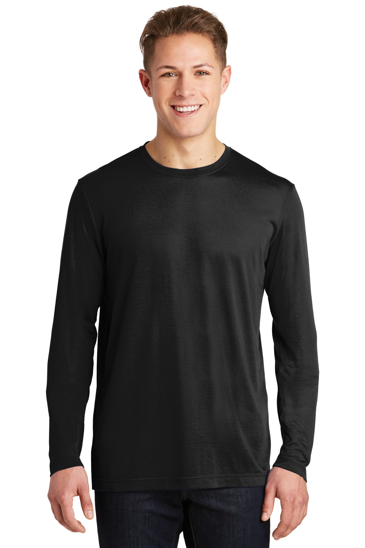 Sport-Tek ®  Long Sleeve PosiCharge ®  Competitor ™  Cotton Touch ™  Tee. ST450LS - Black