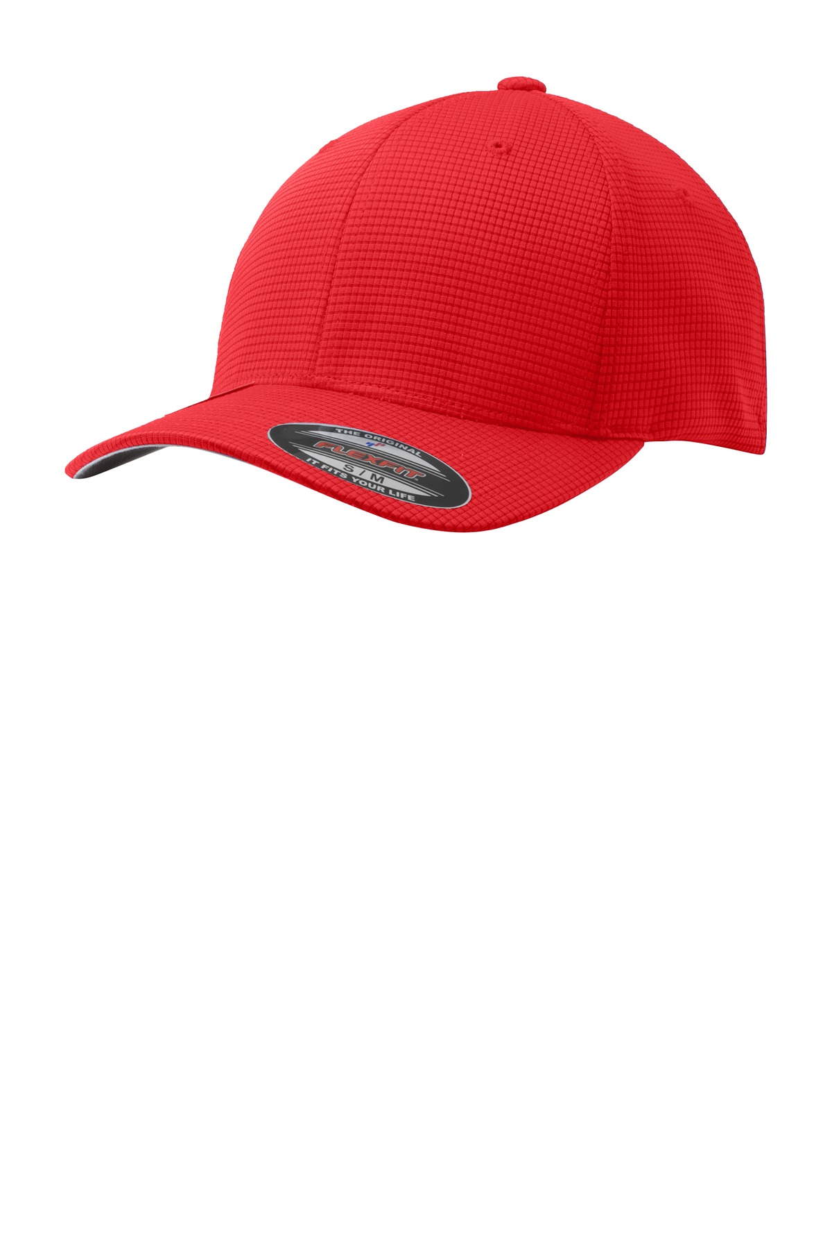 Sport-Tek ®  Flexfit ®  Grid Texture Cap. STC33 - True Red