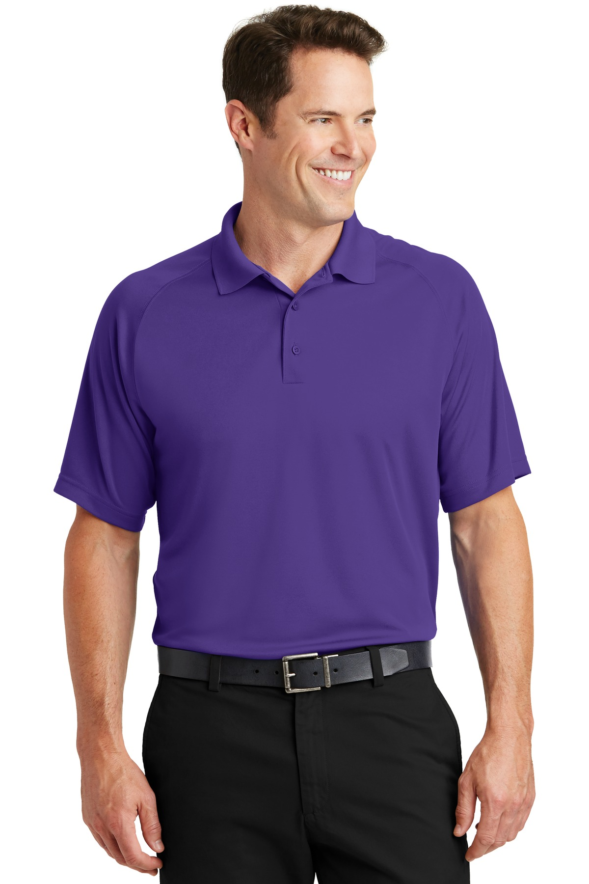 Sport-Tek ®  Dry Zone ®  Raglan Polo. T475 - Purple