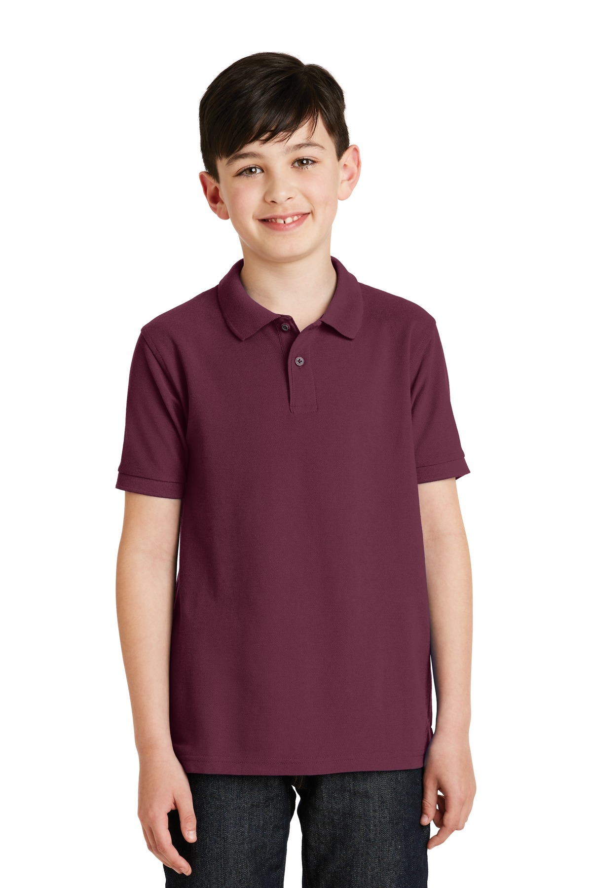 Port Authority ®  Youth Silk Touch™ Polo.  Y500 - Burgundy