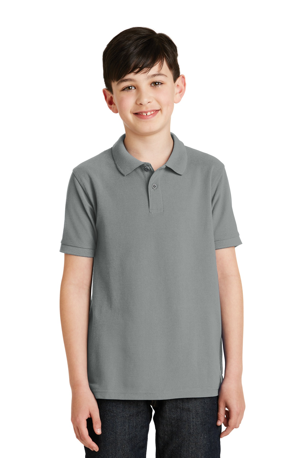 Port Authority ®  Youth Silk Touch™ Polo.  Y500 - Cool Grey