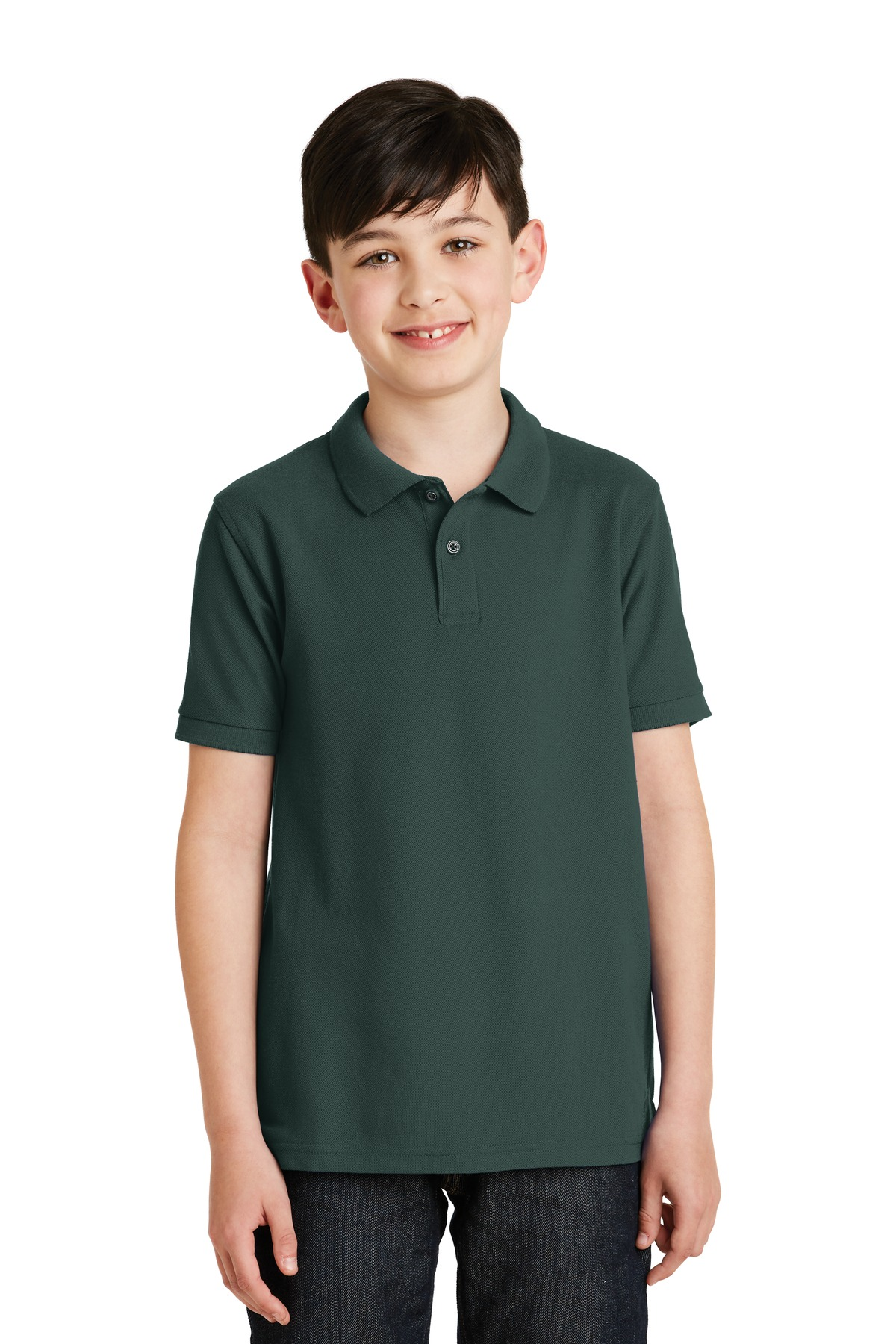 Port Authority ®  Youth Silk Touch™ Polo.  Y500 - Dark Green