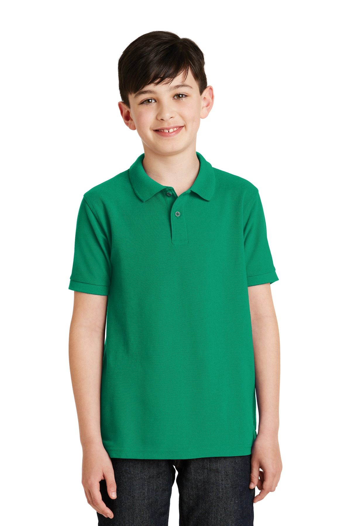 Port Authority ®  Youth Silk Touch™ Polo.  Y500 - Kelly Green